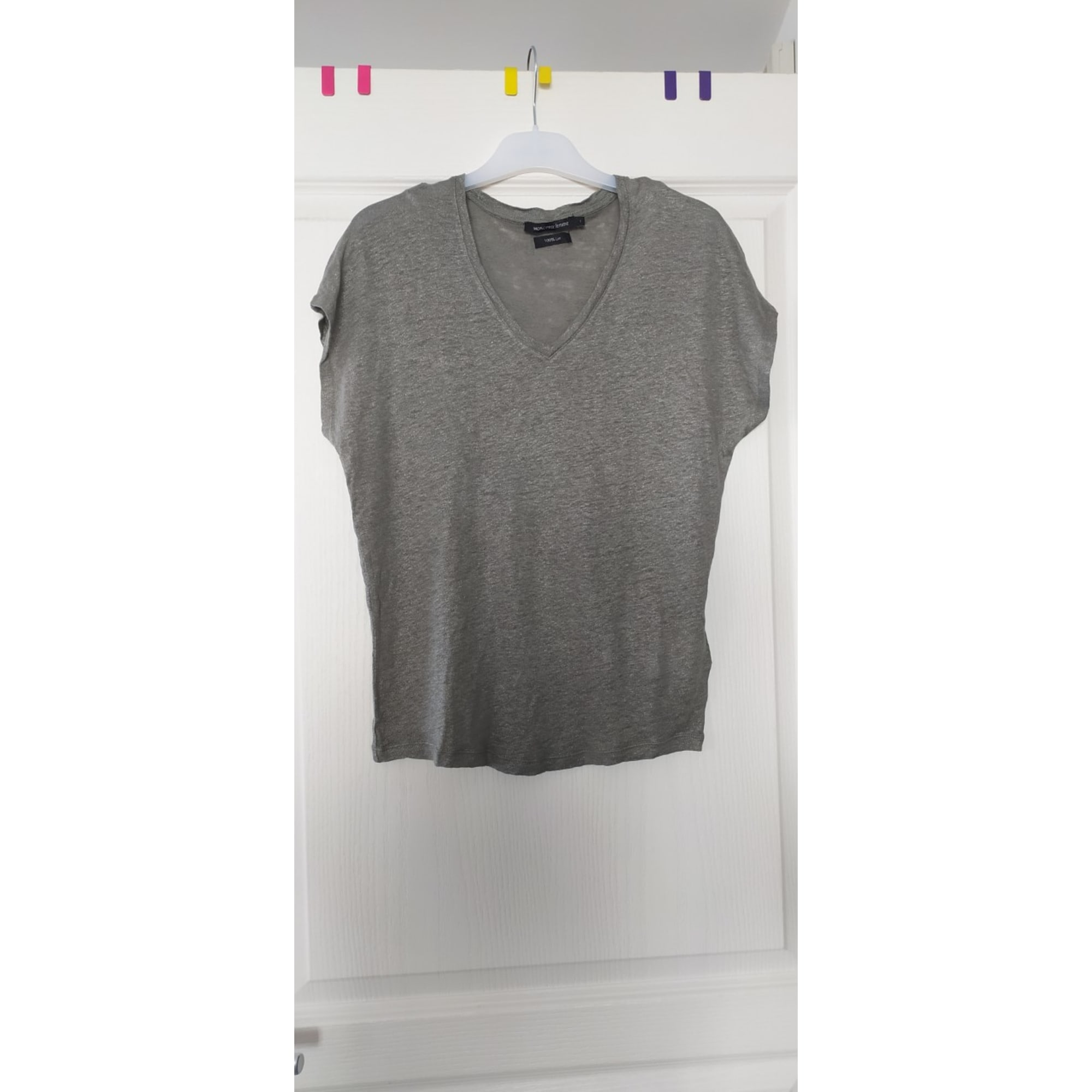 Top, tee-shirt MONOPRIX Kaki