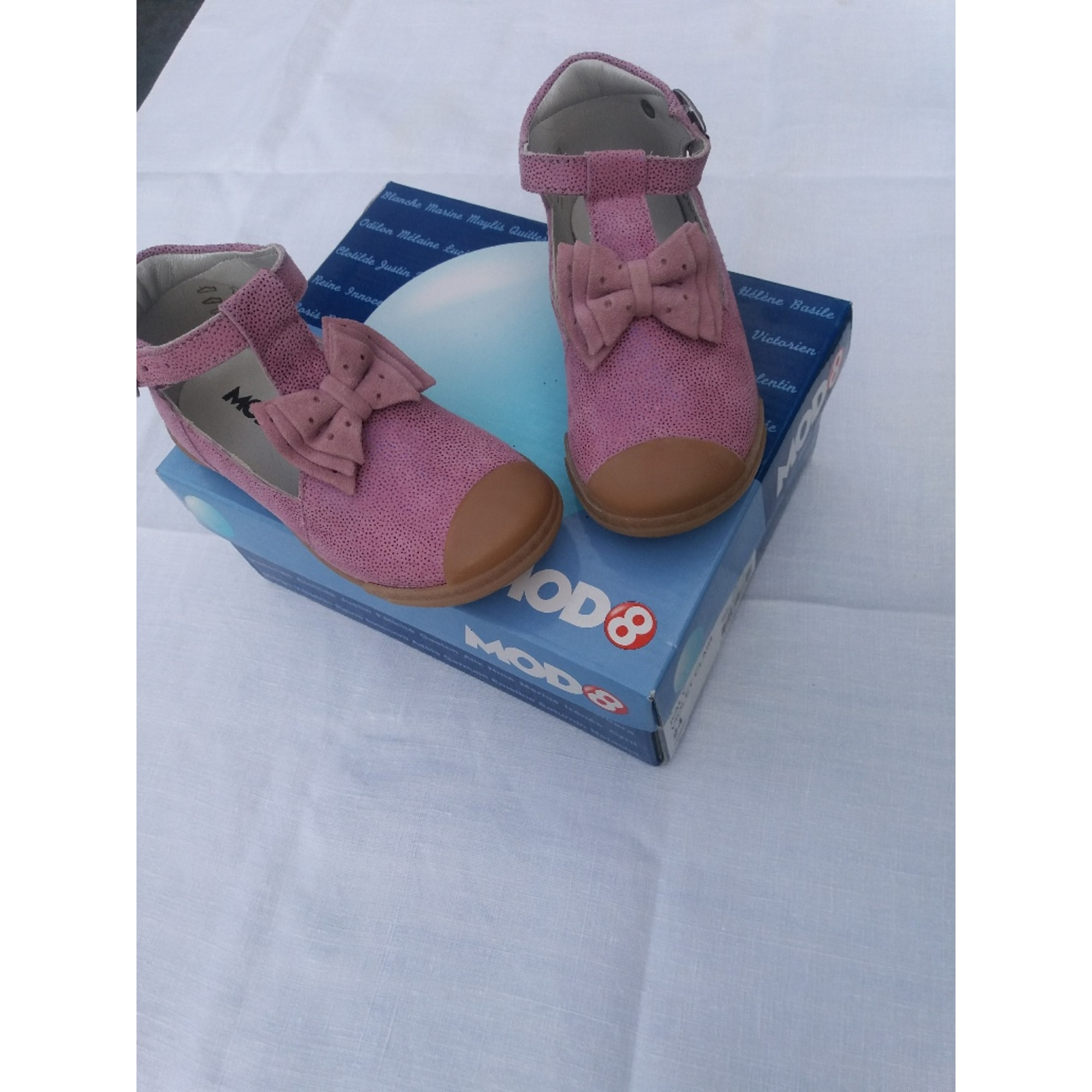 Chaussures à boucle MOD'S 8 Rose, fuschia, vieux rose
