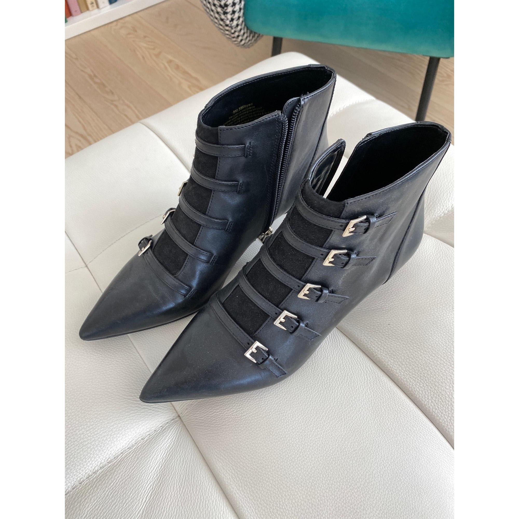 Bottines & low boots à talons NINE WEST Noir