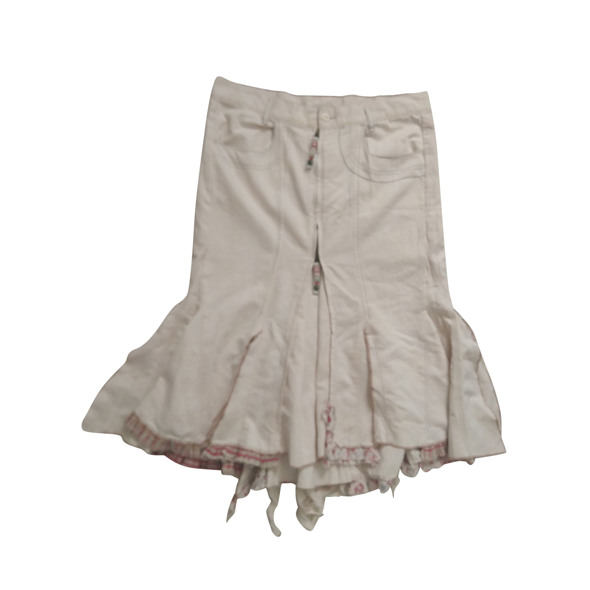 Midi Skirt MARITHÉ ET FRANÇOIS GIRBAUD White, off-white, ecru