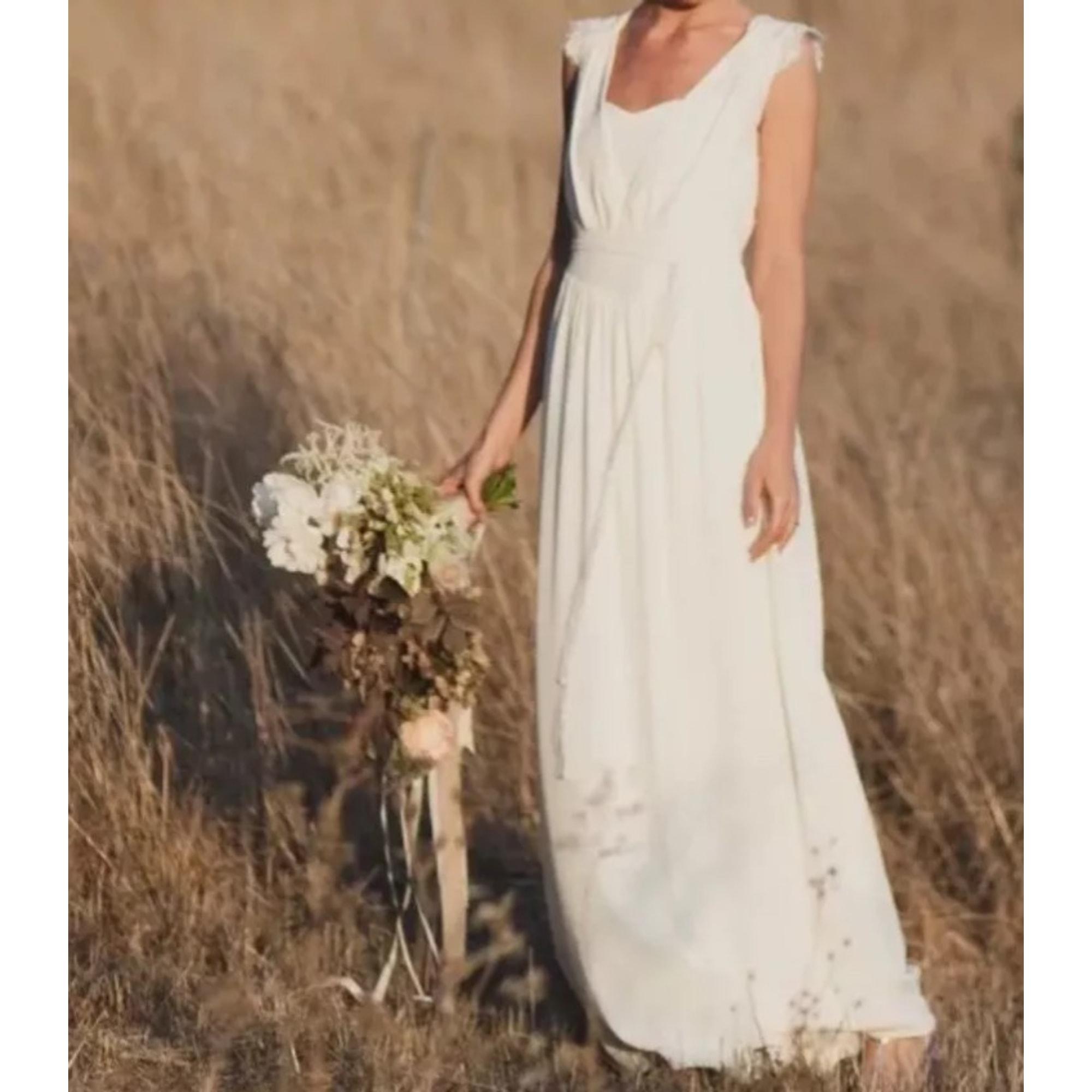Robe de mariée LAURE DE SAGAZAN Blanc, blanc cassé, écru