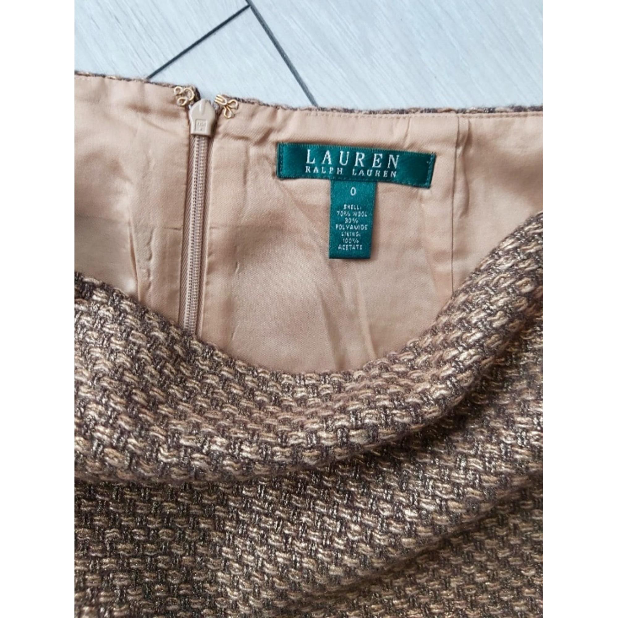 Jupe courte RALPH LAUREN Doré, bronze, cuivre