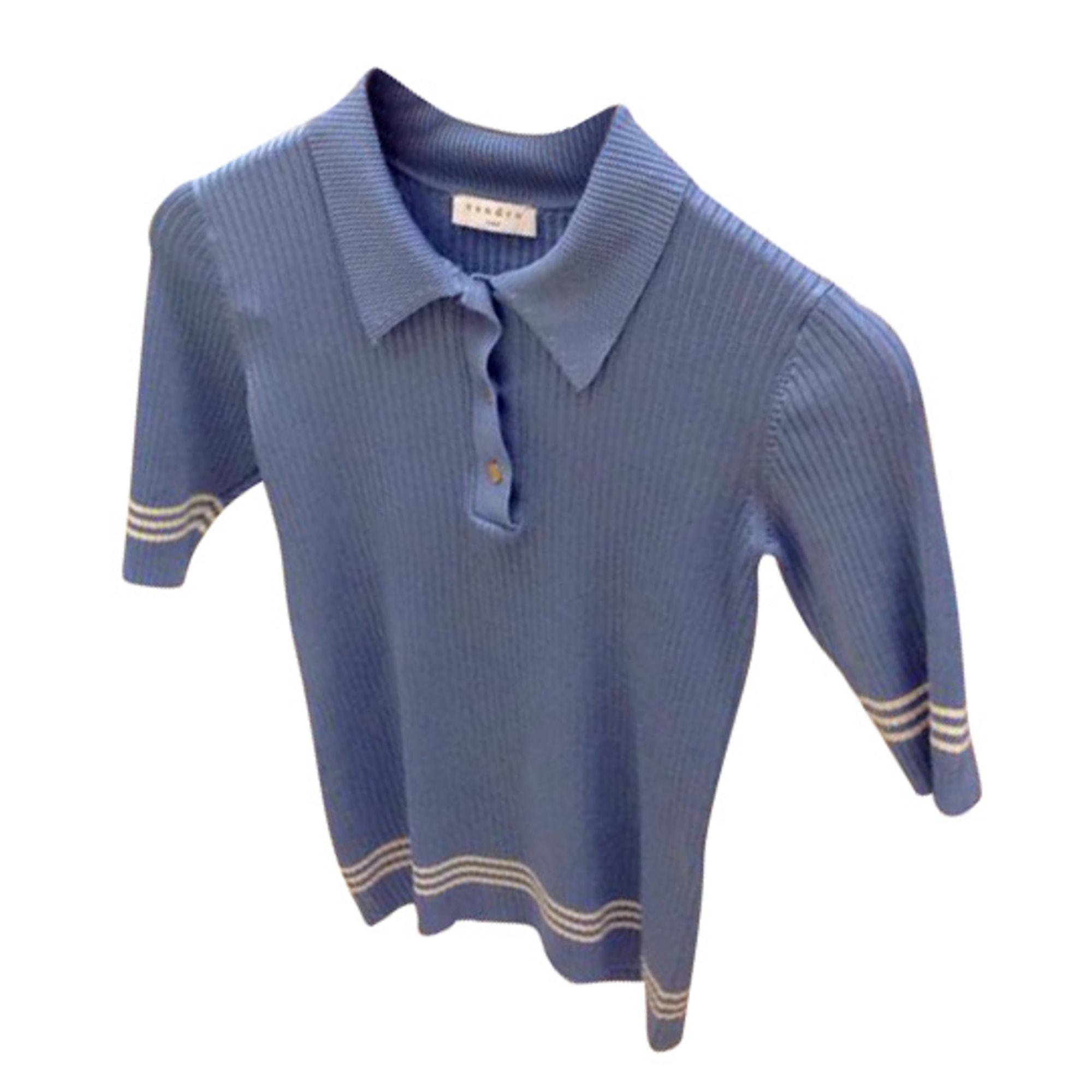 Polo SANDRO Bleu, bleu marine, bleu turquoise