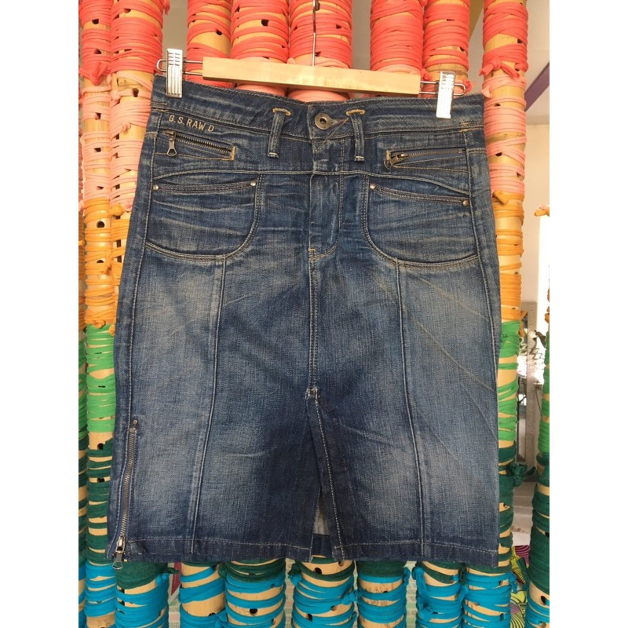 Jupe en jean G-STAR Bleu, bleu marine, bleu turquoise