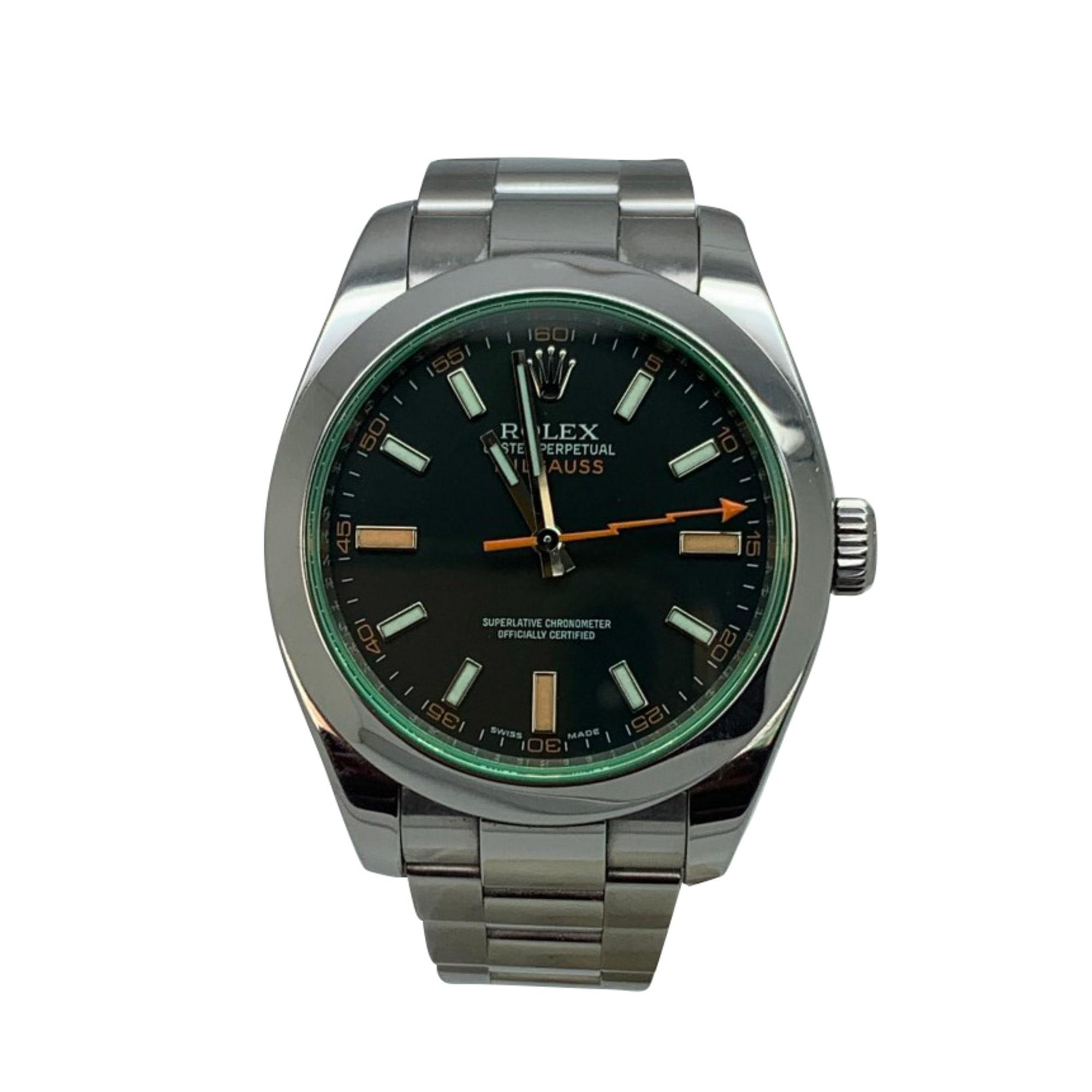 Armbanduhr ROLEX MILGAUSS Schwarz