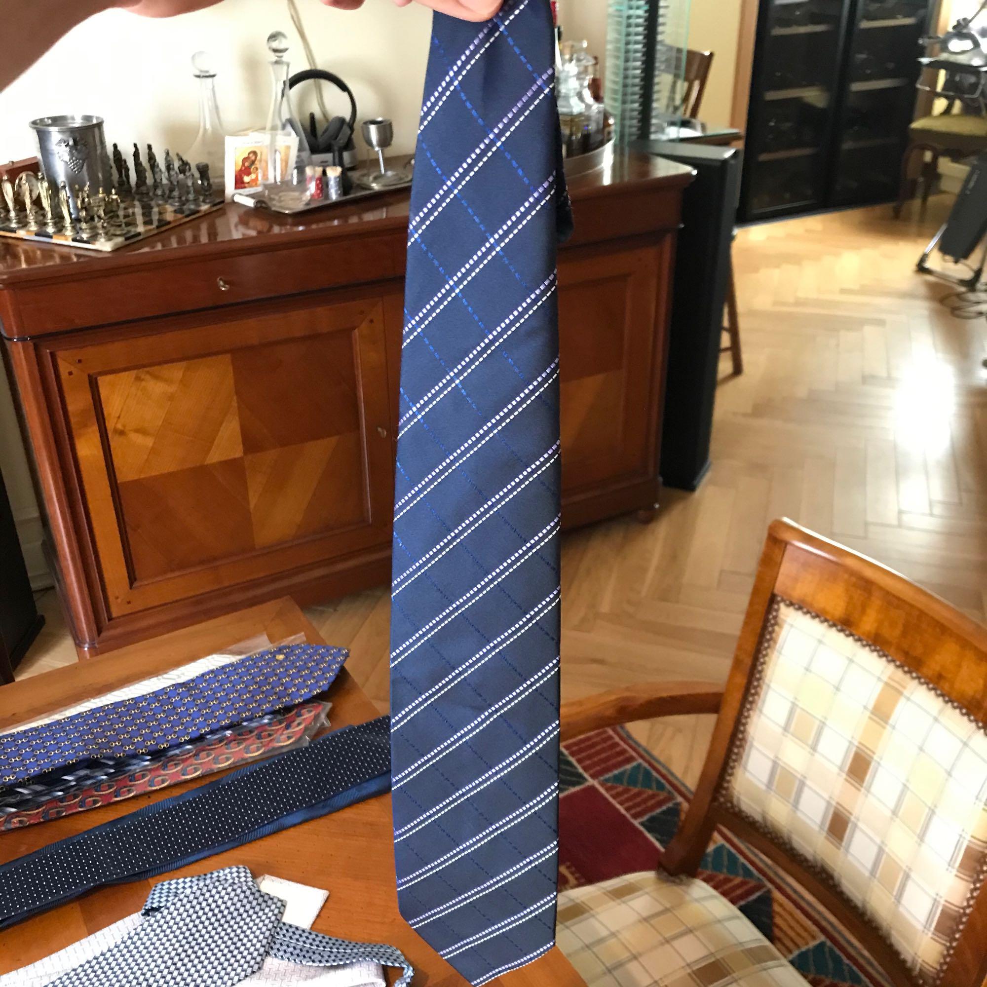 Cravate BALMAIN Bleu, bleu marine, bleu turquoise