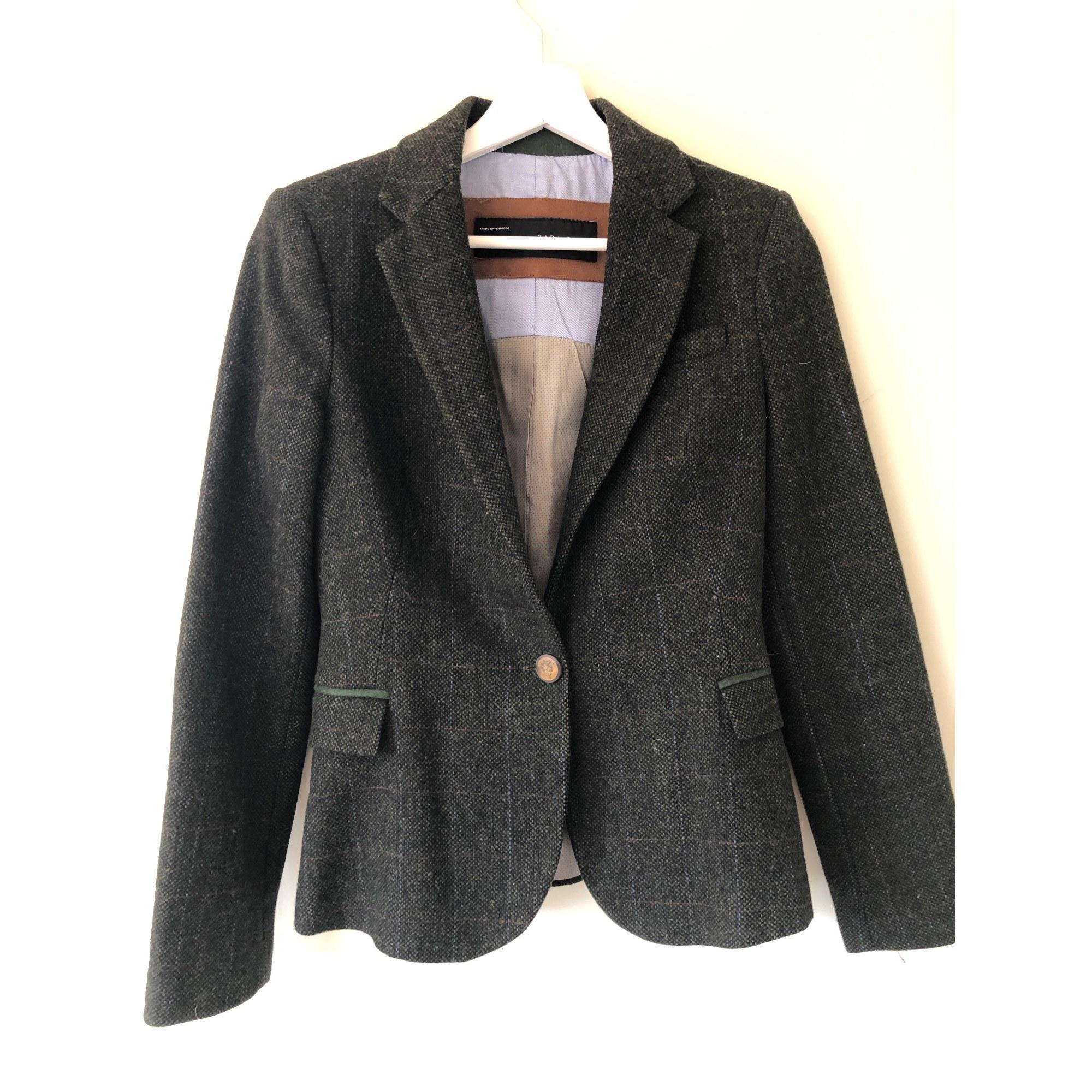 Blazer, veste tailleur ZARA Vert