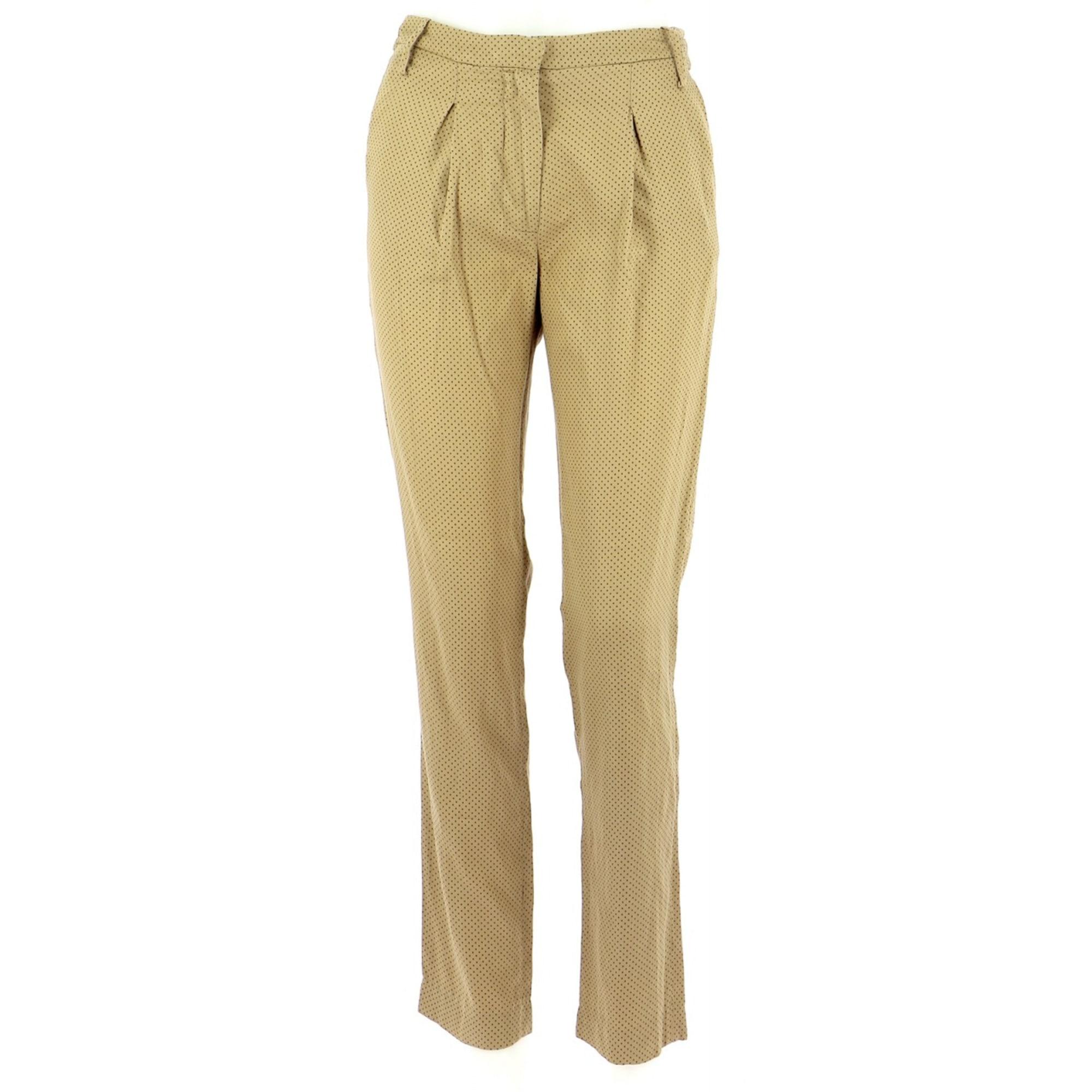 Pantalon droit PAUL & JOE SISTER Doré, bronze, cuivre