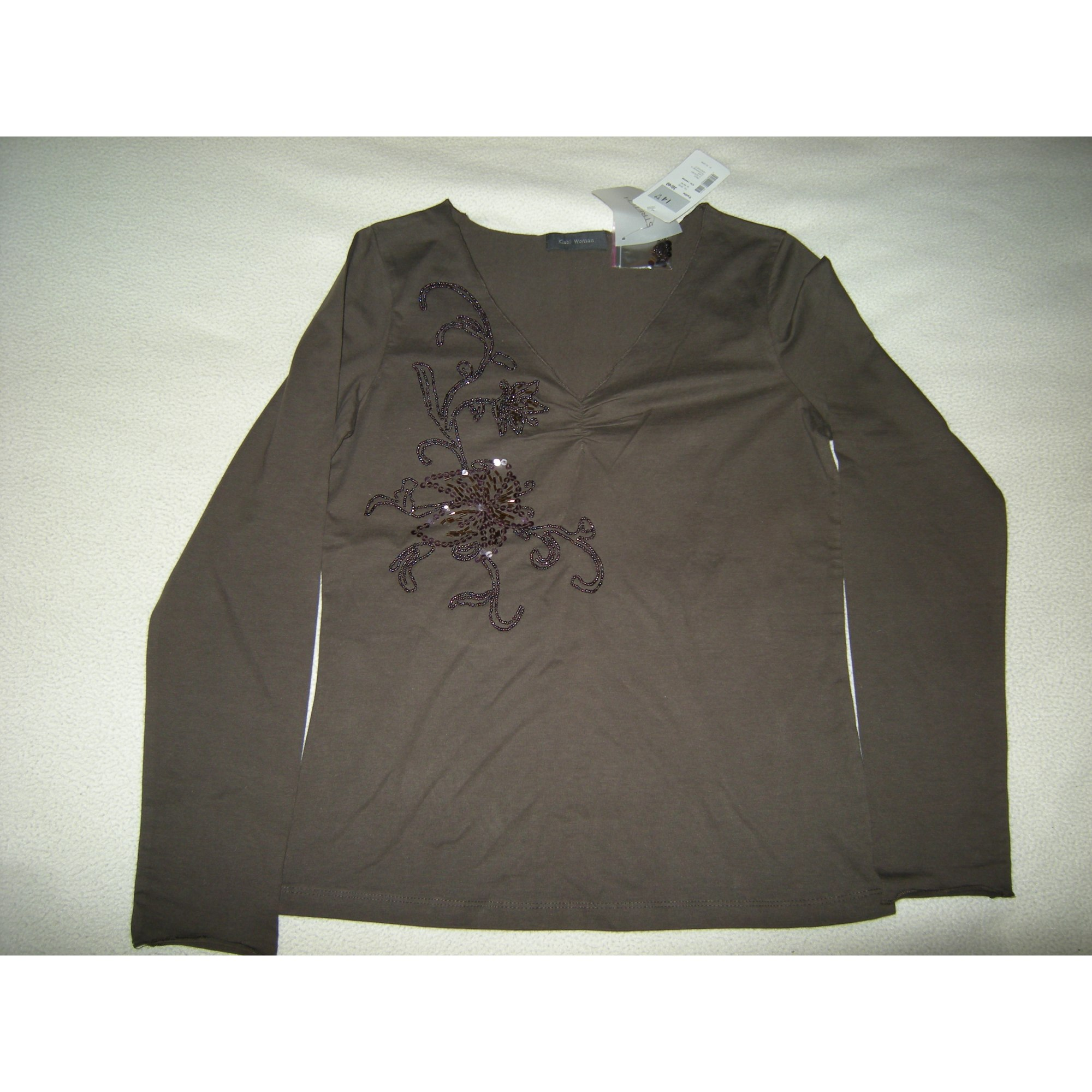 Top, tee-shirt KIABI Marron