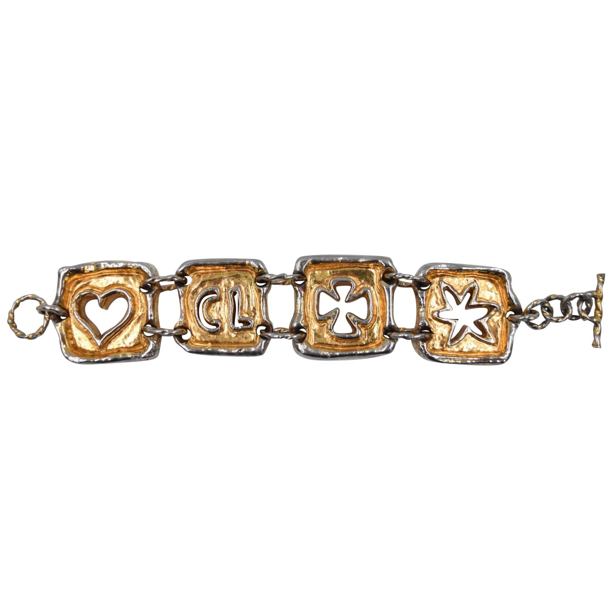 Bracelet CHRISTIAN LACROIX Doré, bronze, cuivre