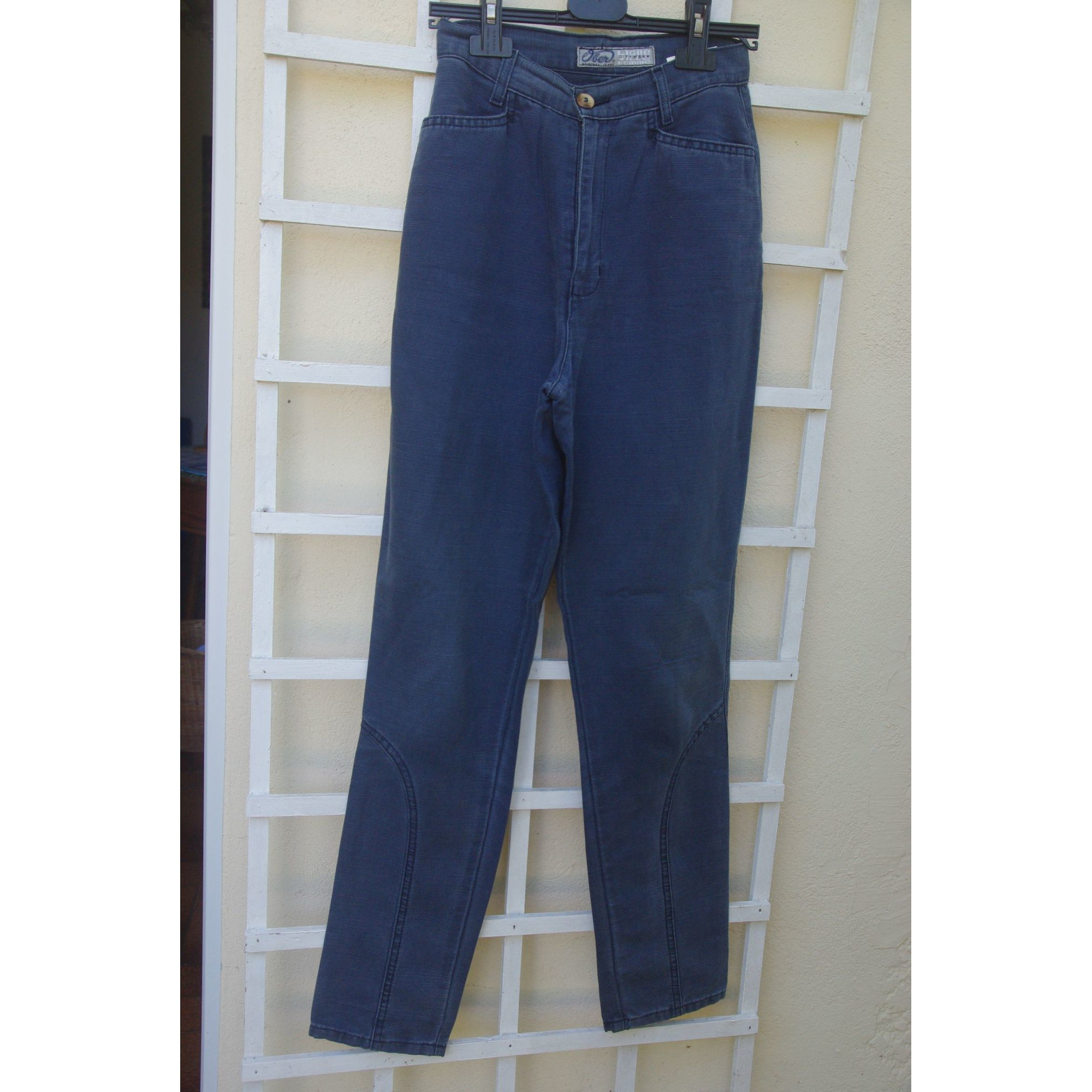 Pantalon droit OBER Bleu, bleu marine, bleu turquoise