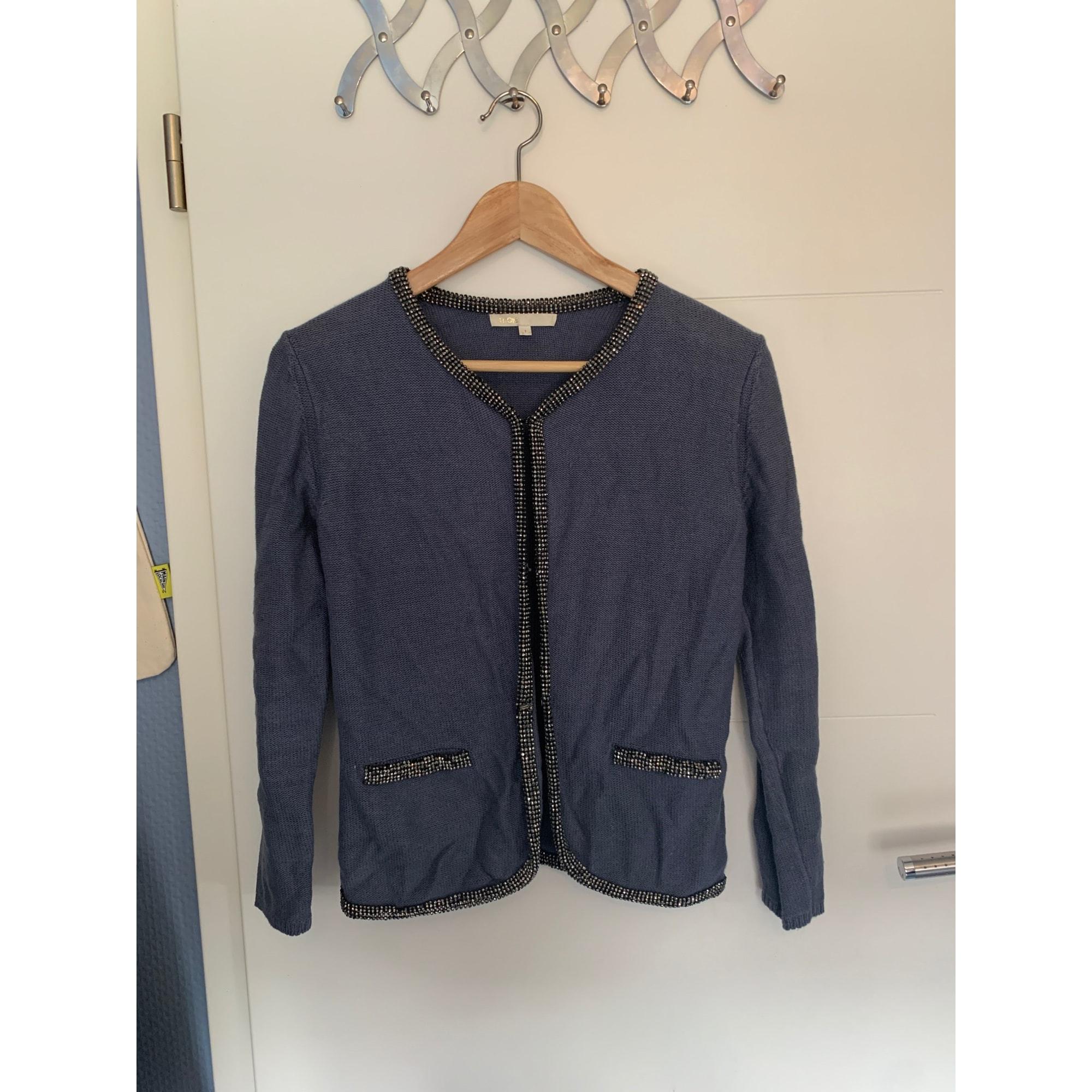 Gilet, cardigan MAJE Bleu, bleu marine, bleu turquoise