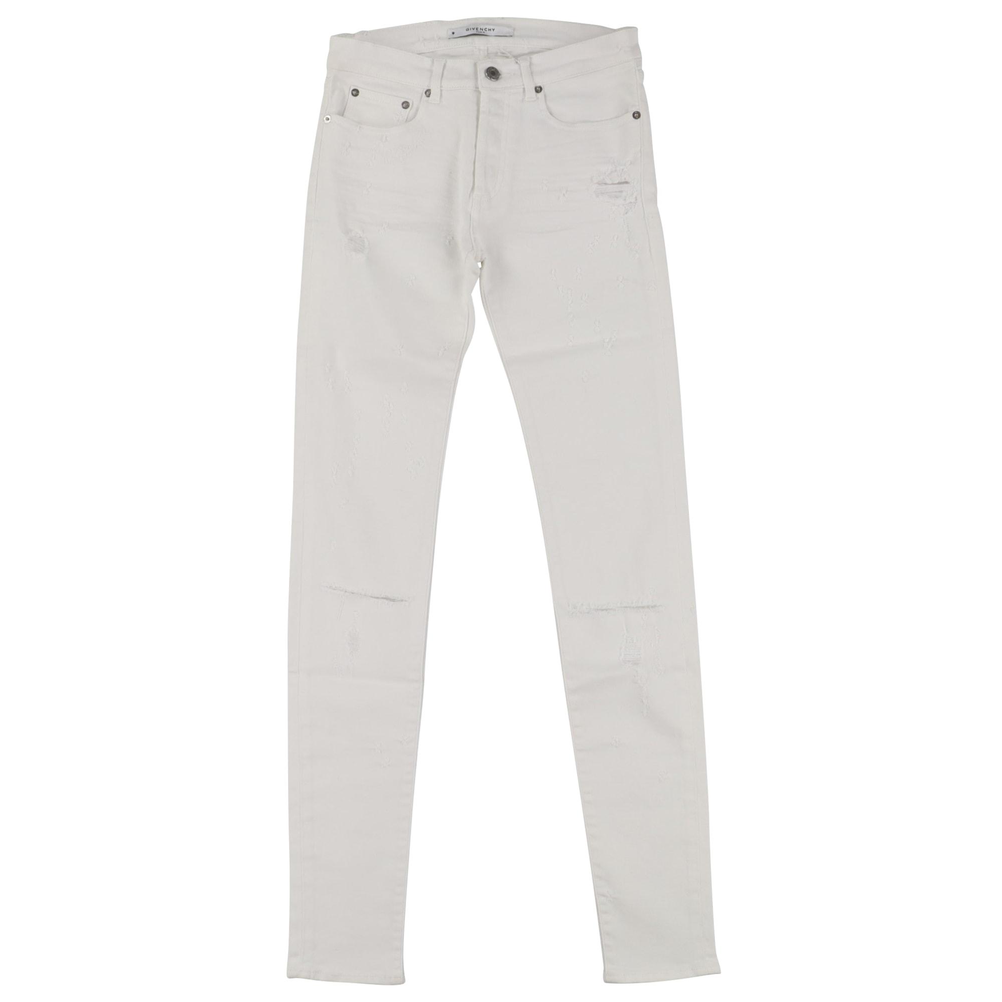 Jeans slim GIVENCHY Blanc, blanc cassé, écru