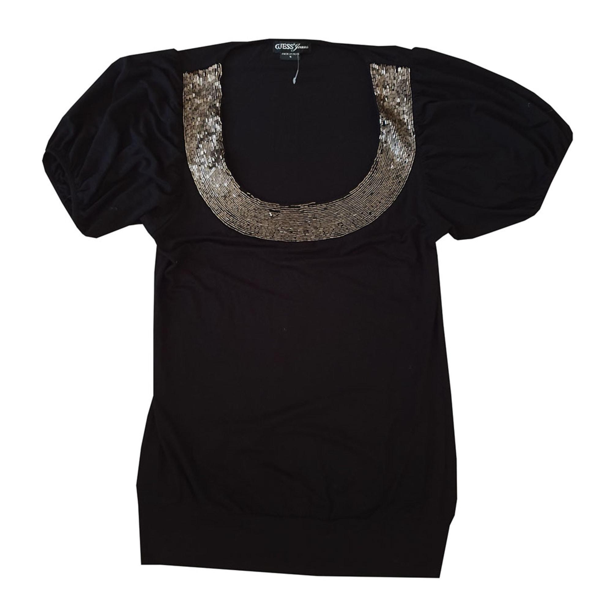 Top, tee-shirt GUESS Noir