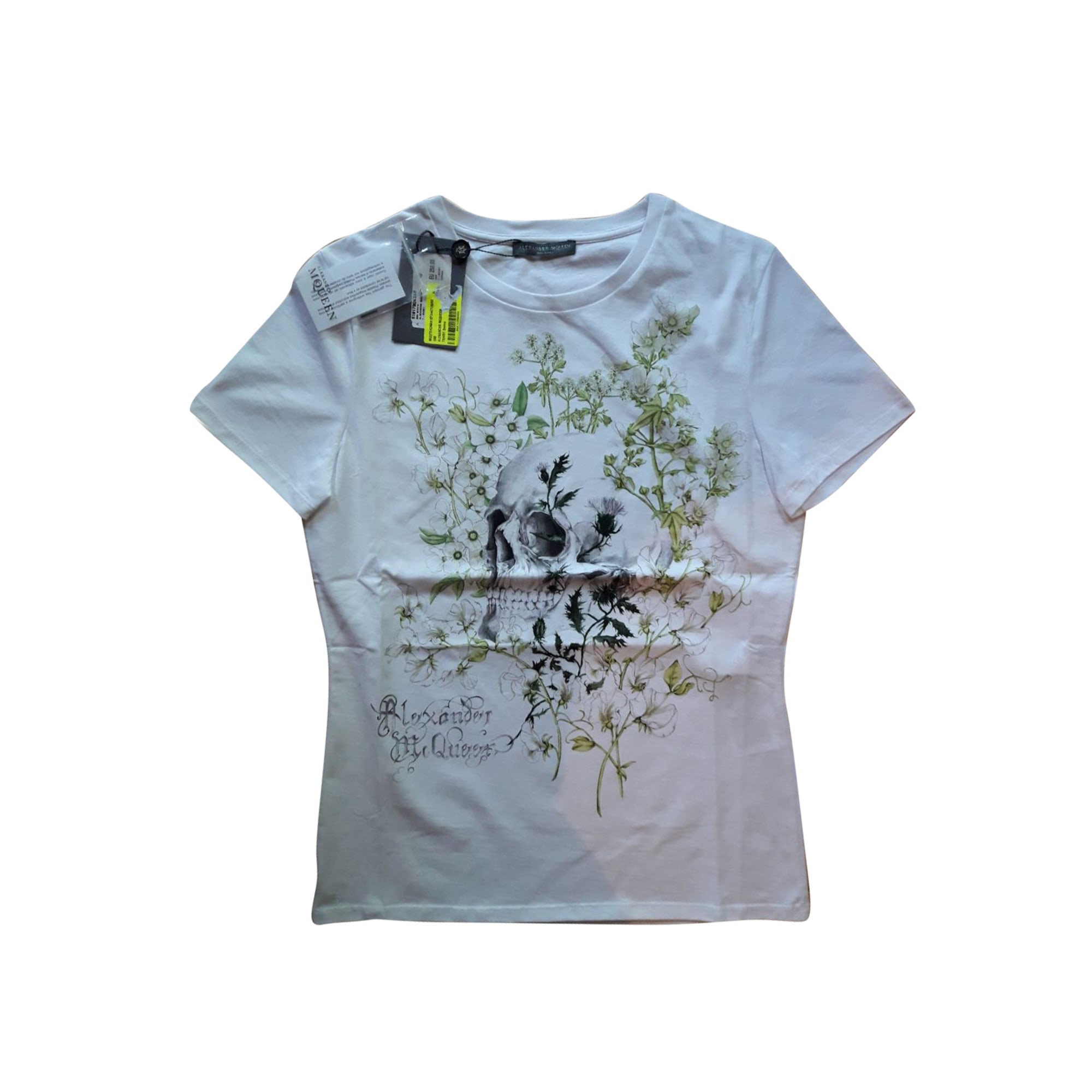 Top, tee-shirt ALEXANDER MCQUEEN Blanc, blanc cassé, écru