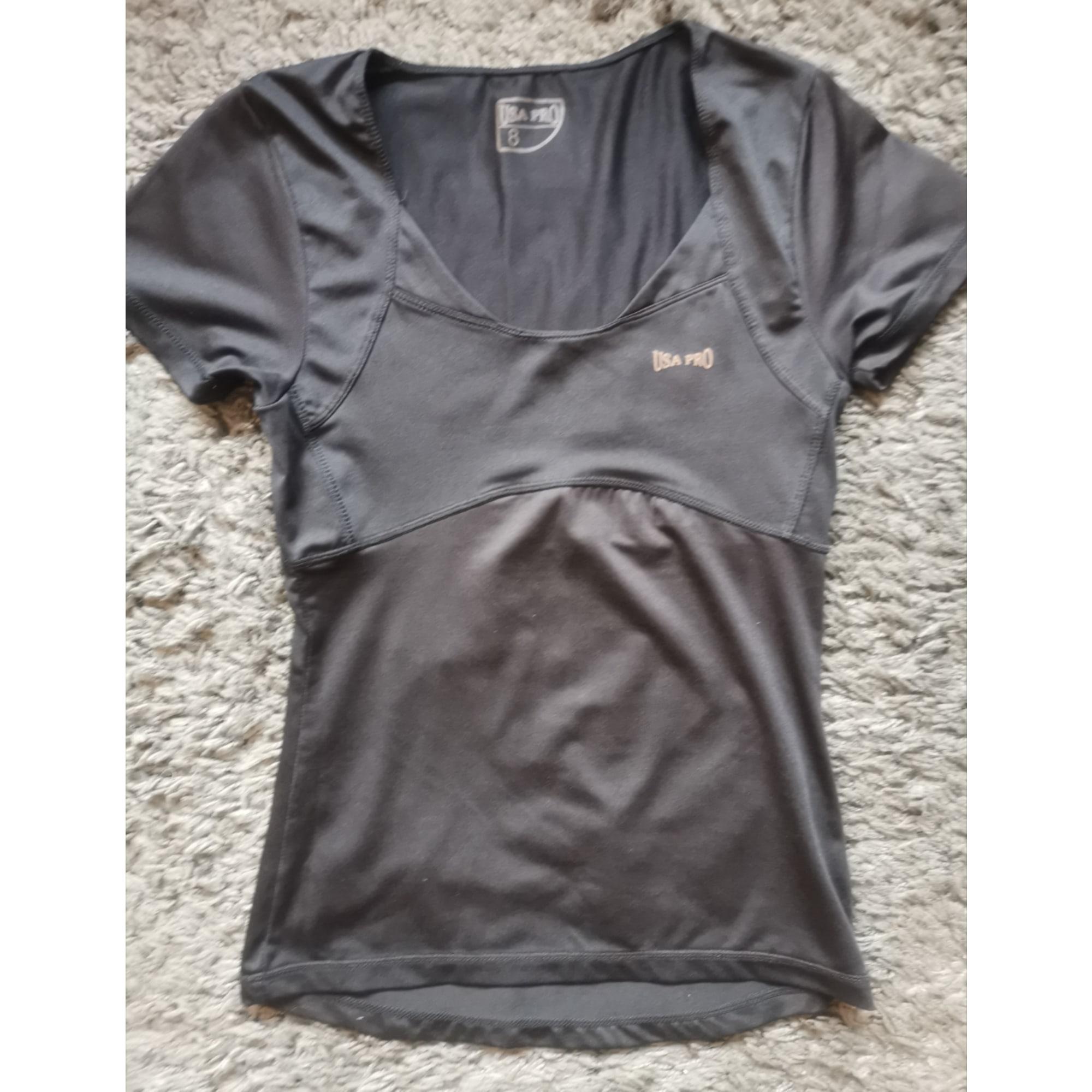 Top, tee-shirt USA PRO Noir