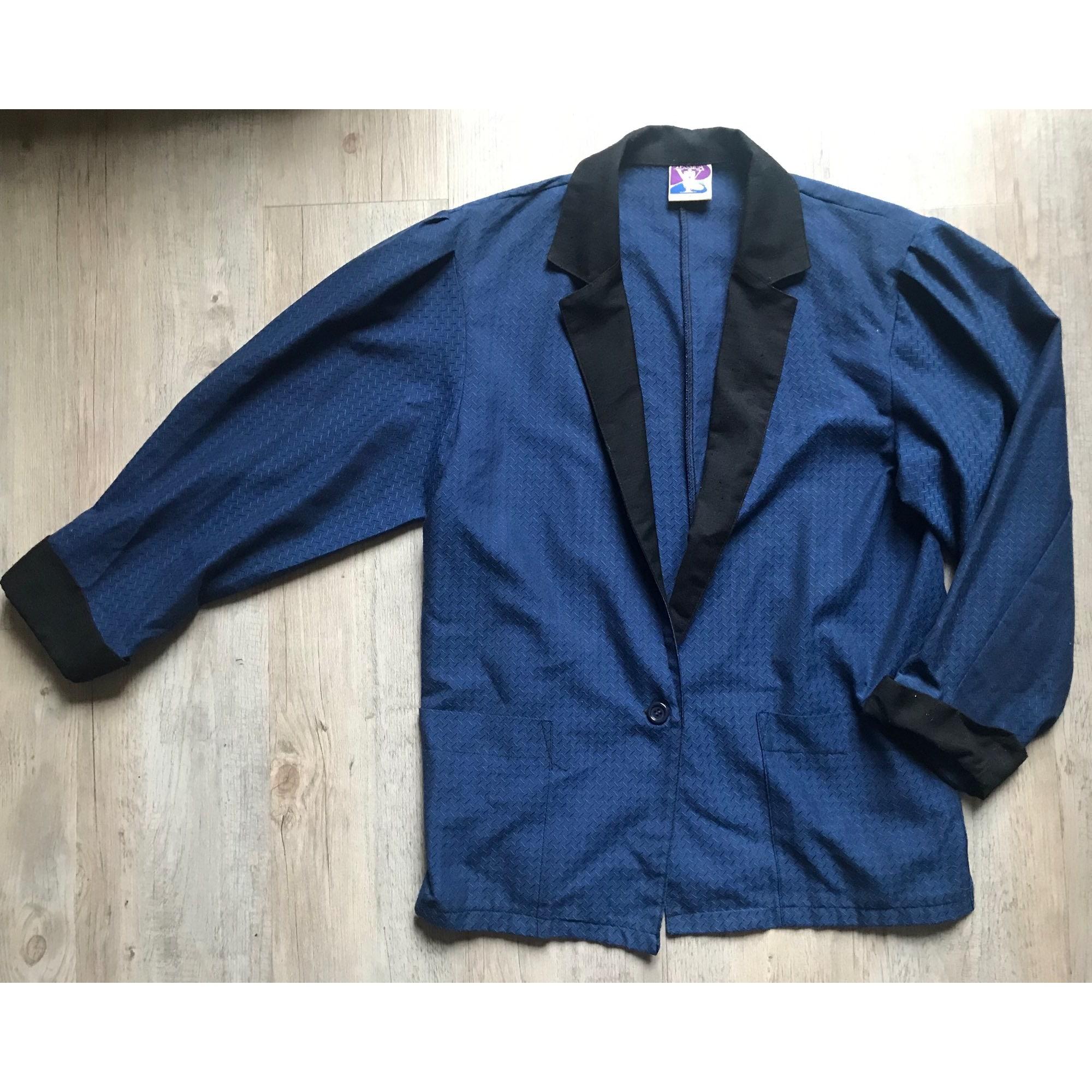 Blazer, veste tailleur VINTAGE Bleu, bleu marine, bleu turquoise