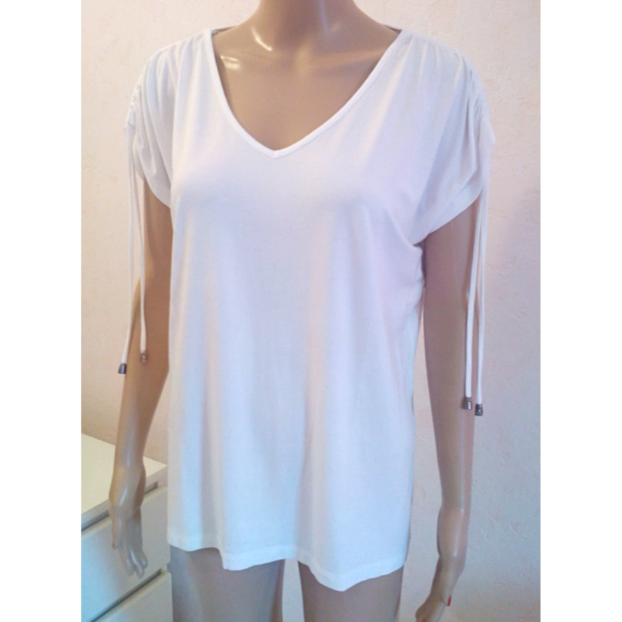 Top, tee-shirt UN JOUR AILLEURS Blanc, blanc cassé, écru