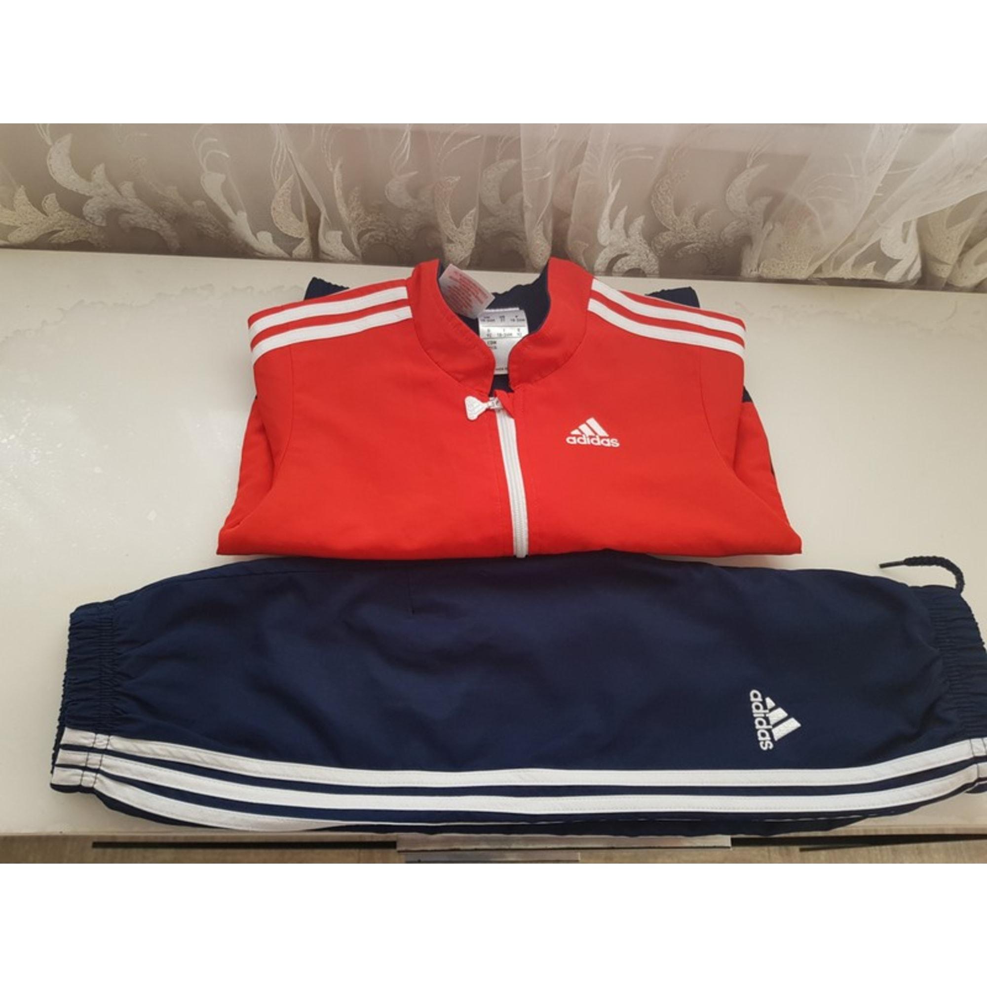 Pants Set, Outfit ADIDAS Continental Bleu et Rouge