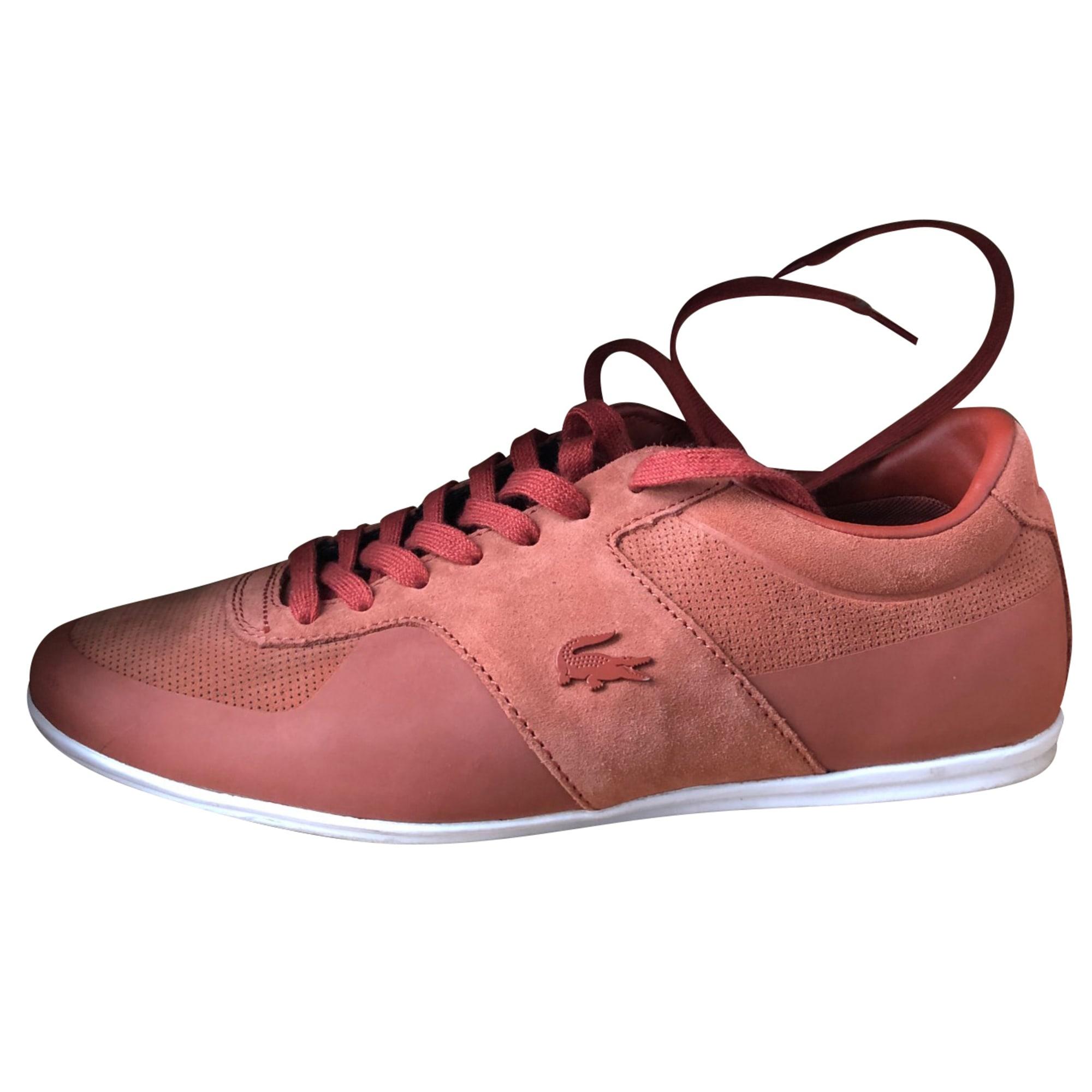 Chaussures à lacets LACOSTE Rouge, bordeaux