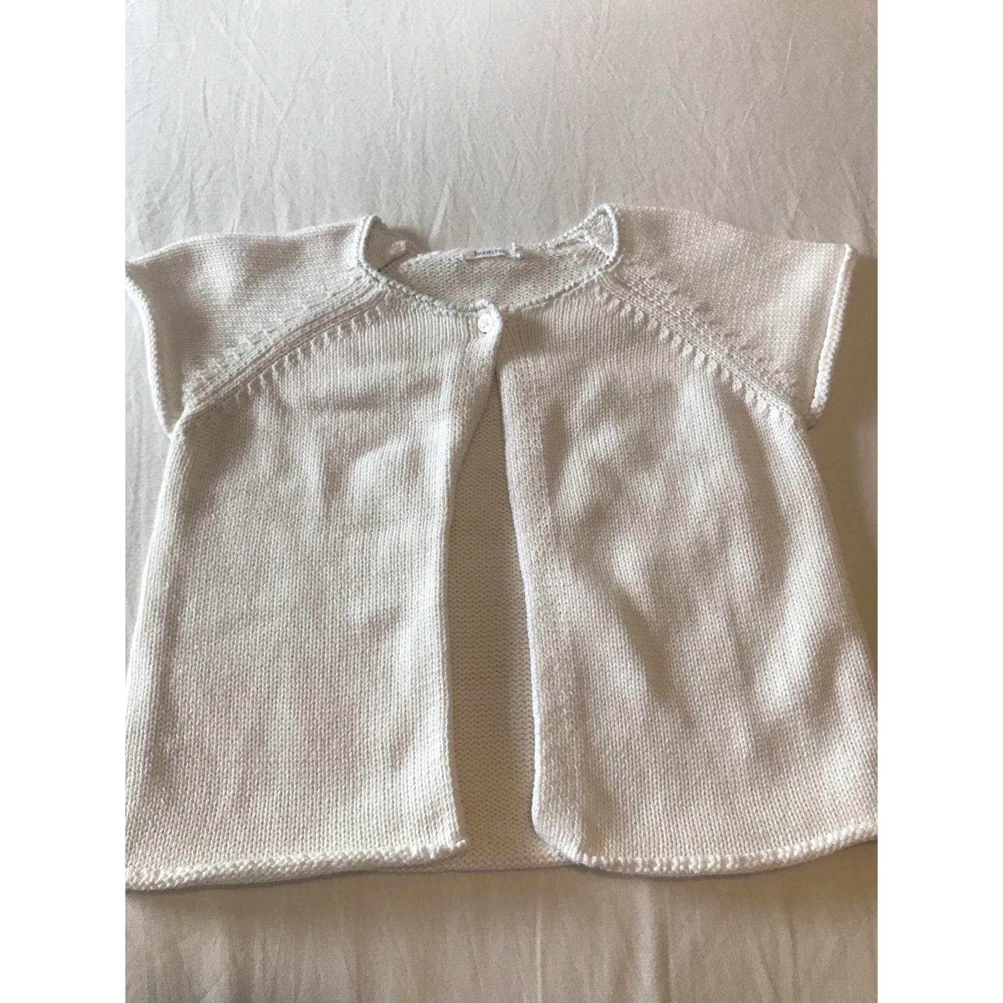 Gilet, cardigan BOUT'CHOU Blanc, blanc cassé, écru