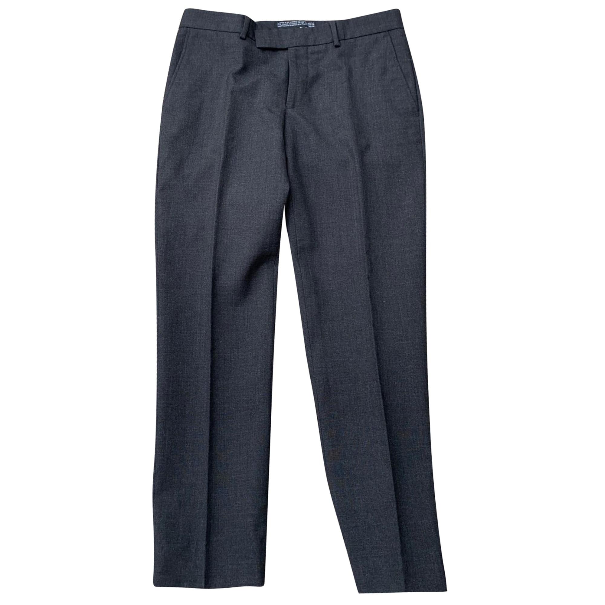 Pantalon droit THE KOOPLES Gris, anthracite