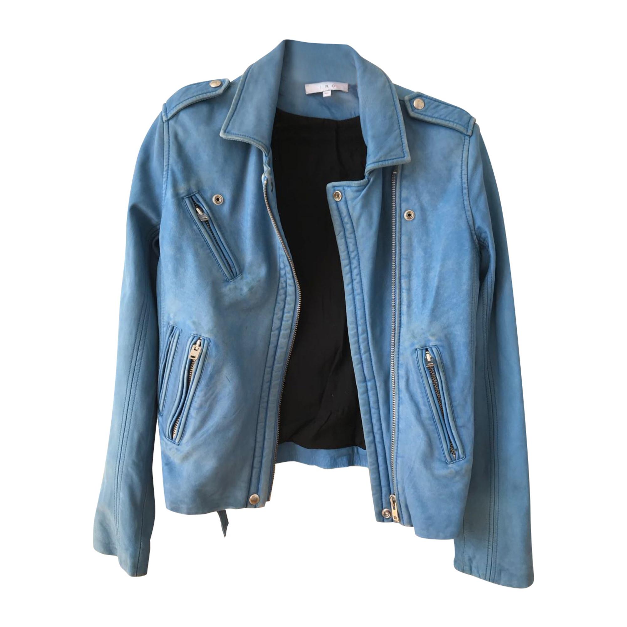 Leather Jacket IRO Blue, navy, turquoise