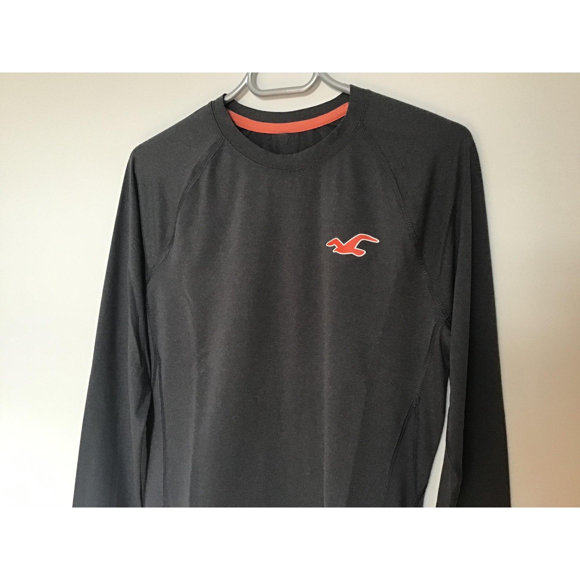 Tee-shirt HOLLISTER Gris, anthracite
