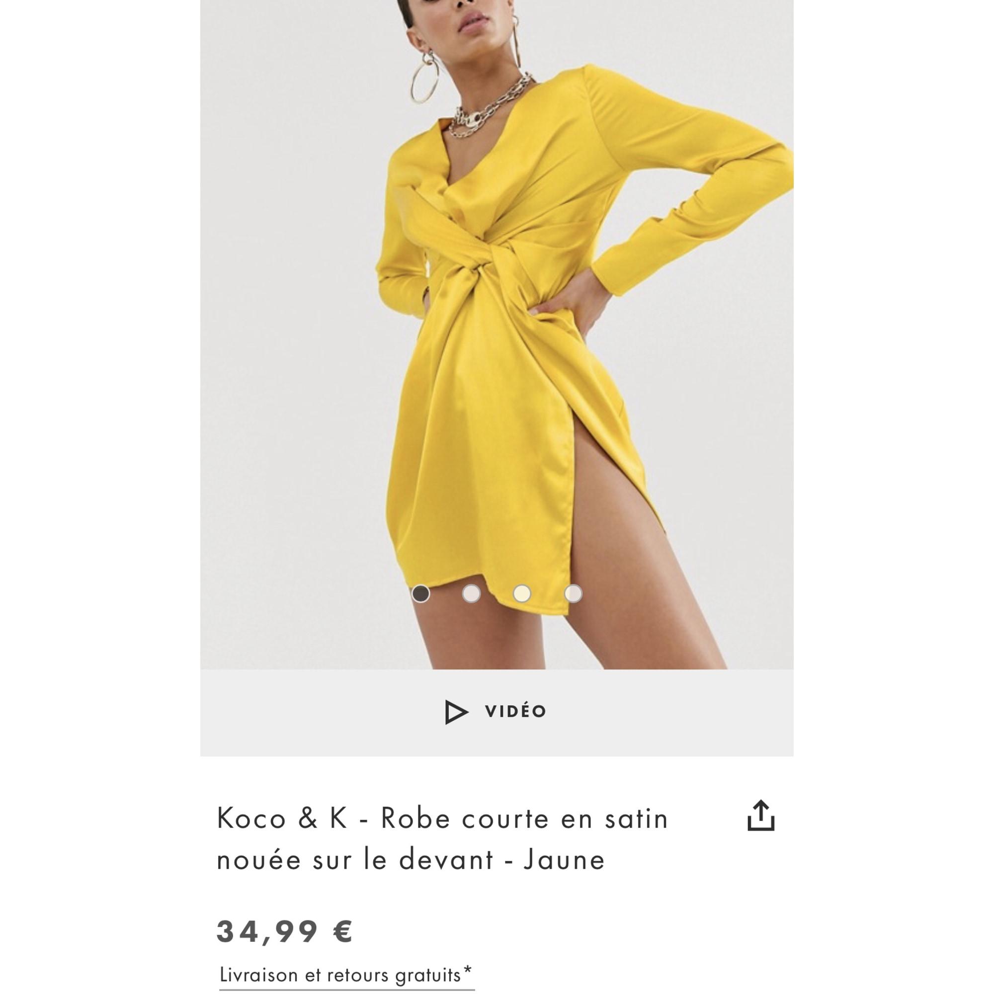 Robe courte KOCO & K Jaune