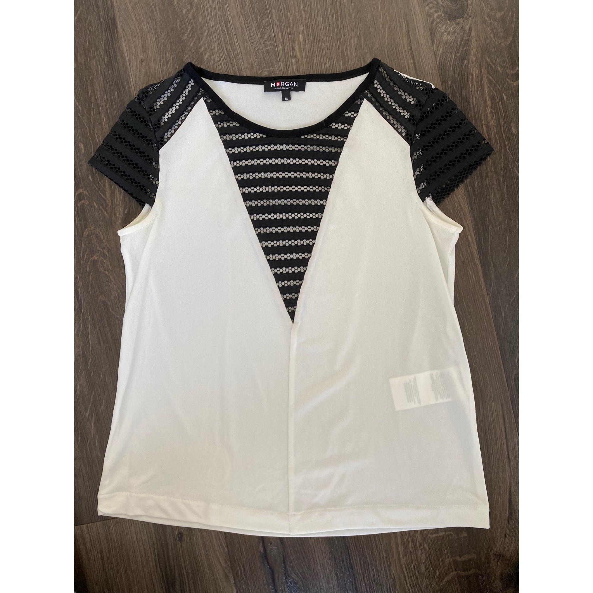 Top, tee-shirt MORGAN Blanc, blanc cassé, écru