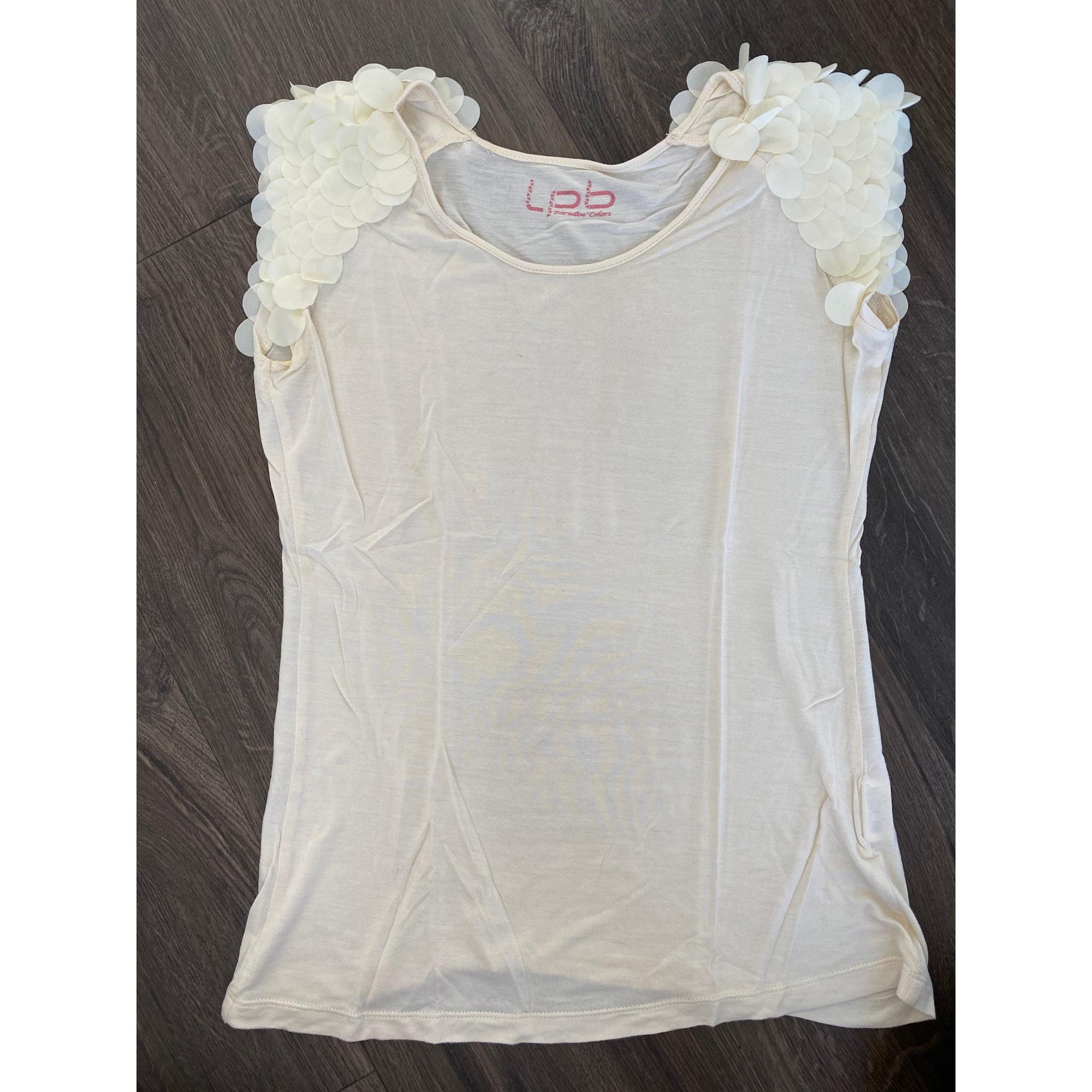 Top, tee-shirt LPB LES P'TITES BOMBES Blanc, blanc cassé, écru