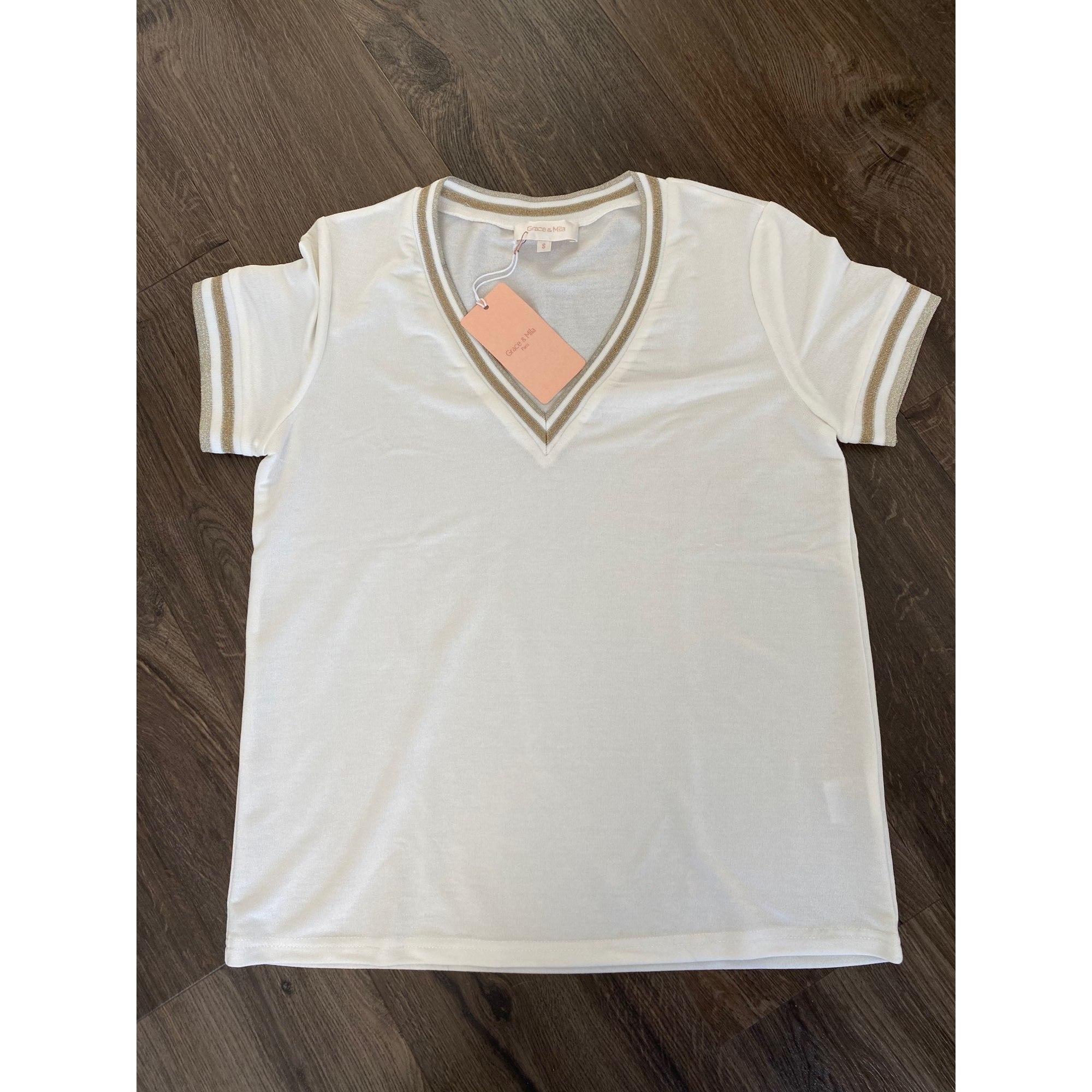 Top, tee-shirt GRACE & MILA Blanc, blanc cassé, écru