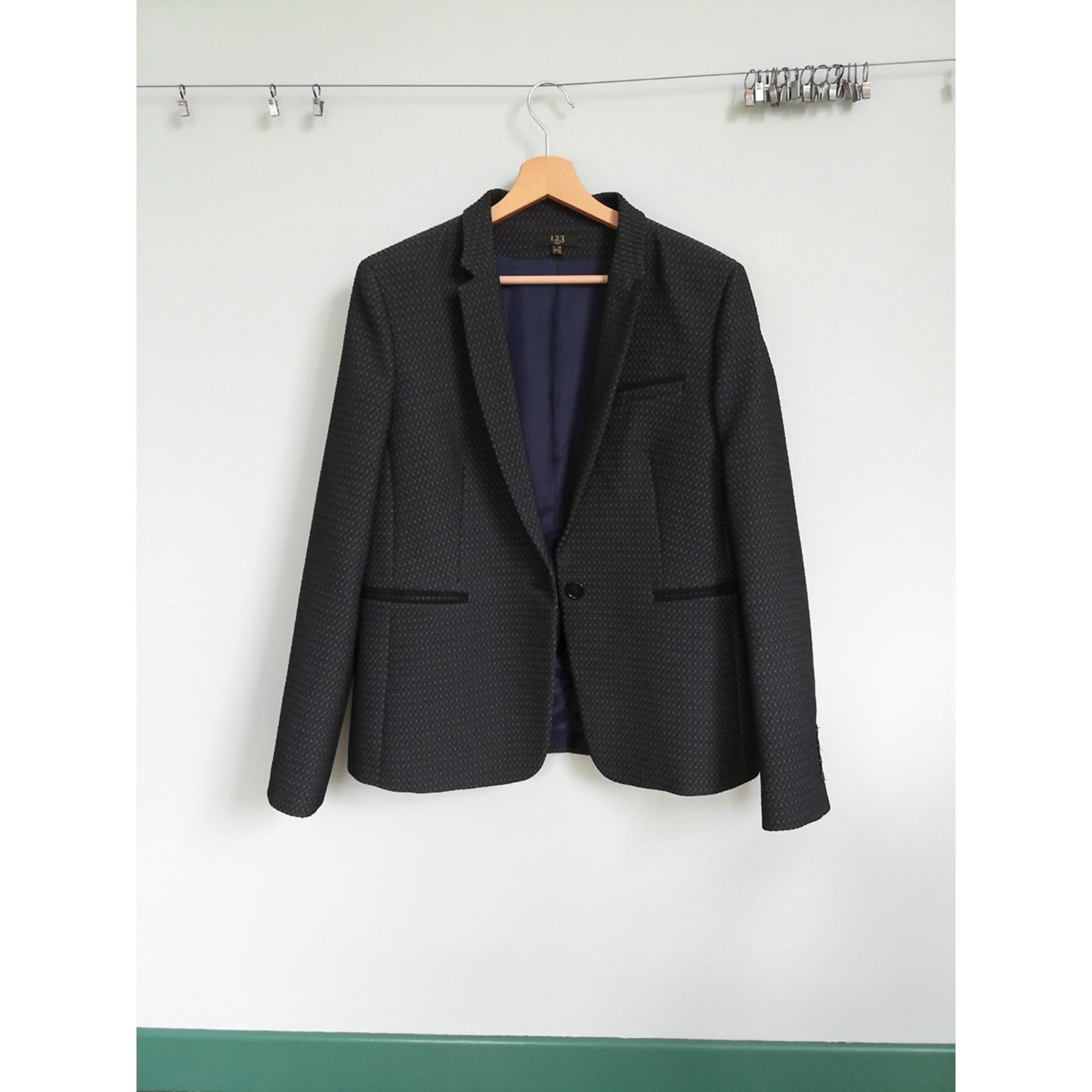Blazer, veste tailleur 1.2.3 Bleu, bleu marine, bleu turquoise