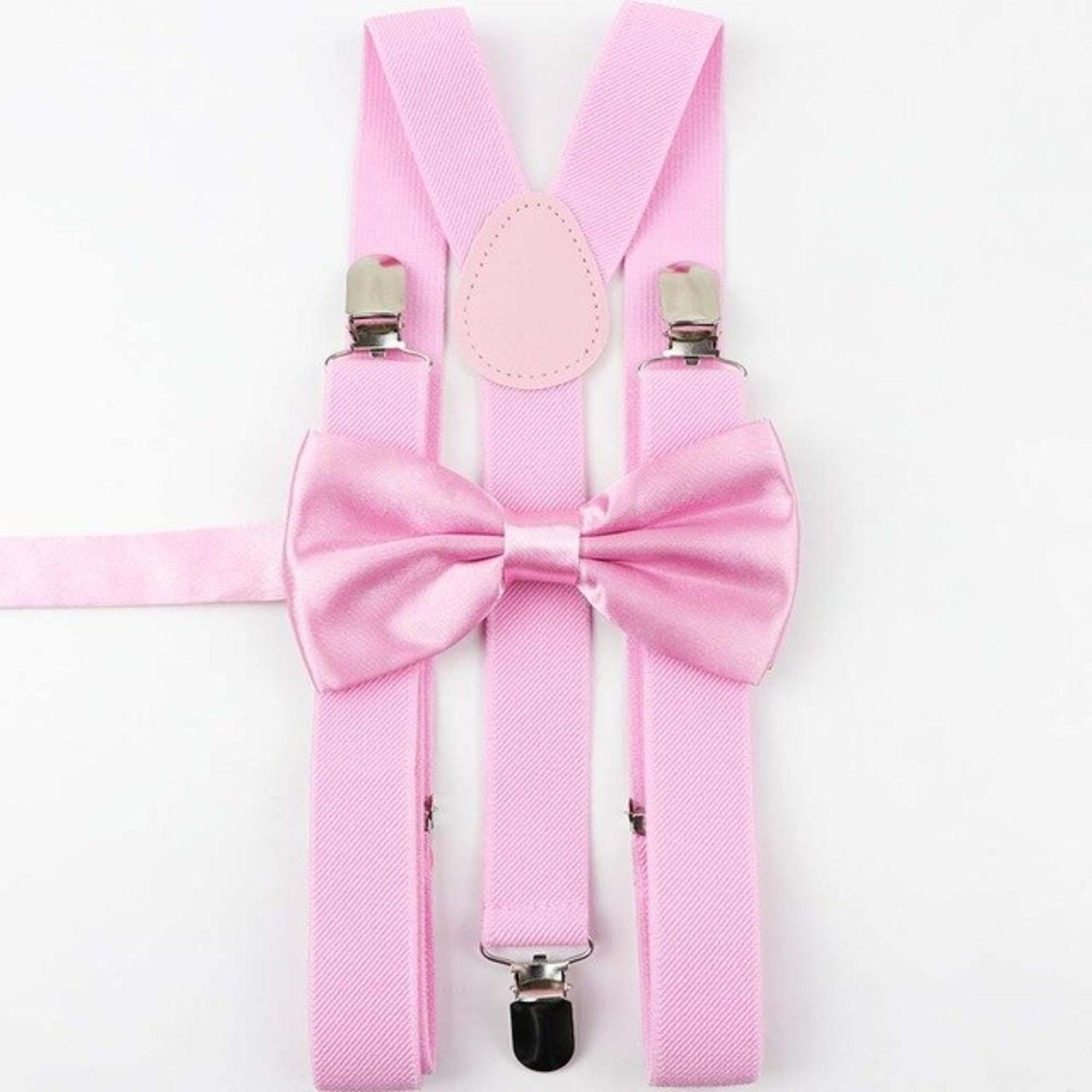 Suspenders MARQUE INCONNUE Pink, fuchsia, light pink