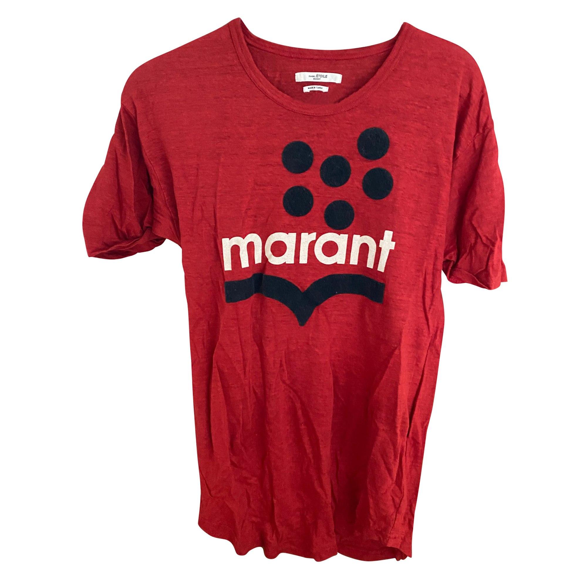 Top, tee-shirt ISABEL MARANT ETOILE Rouge, bordeaux