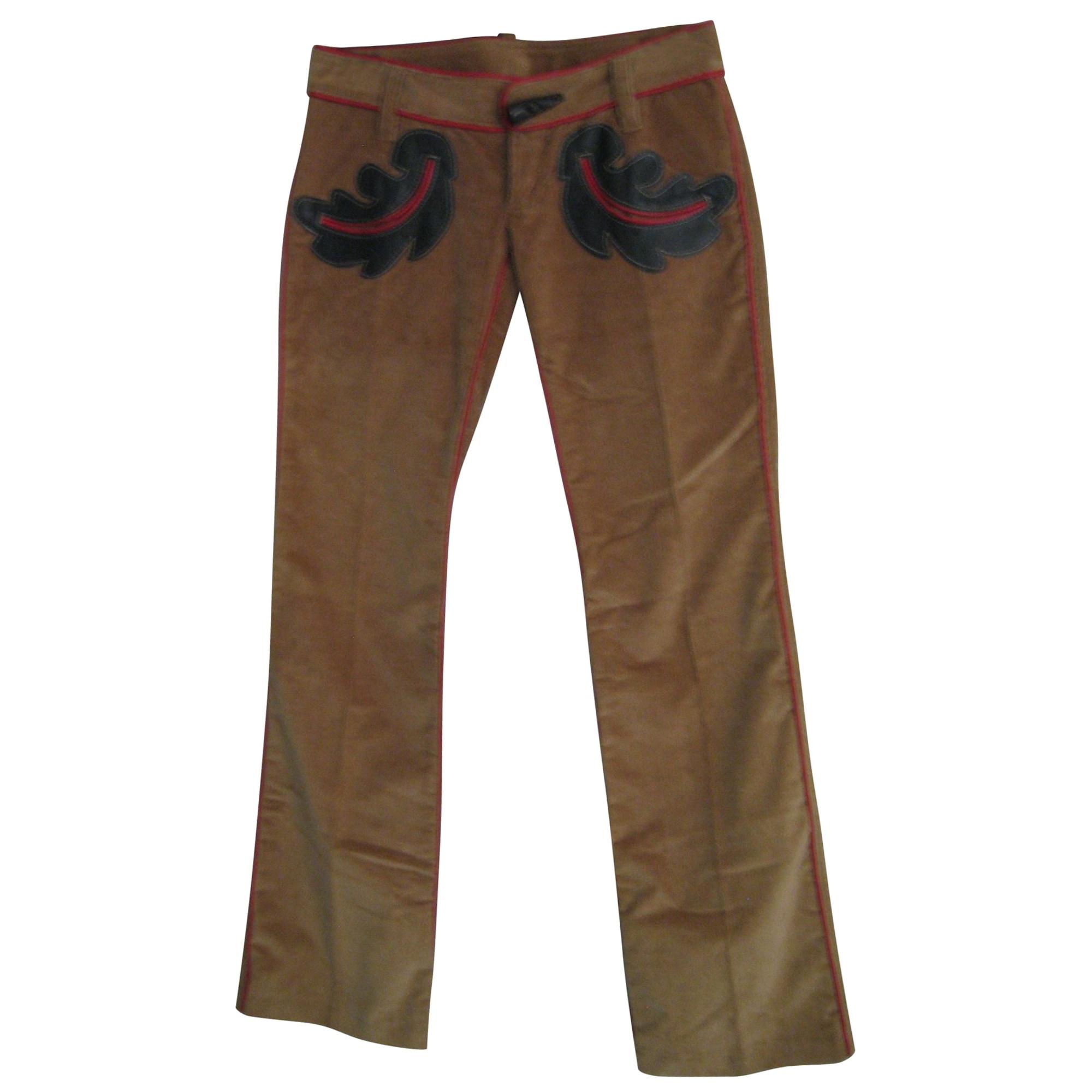 Pantalon évasé DSQUARED2 Beige, camel