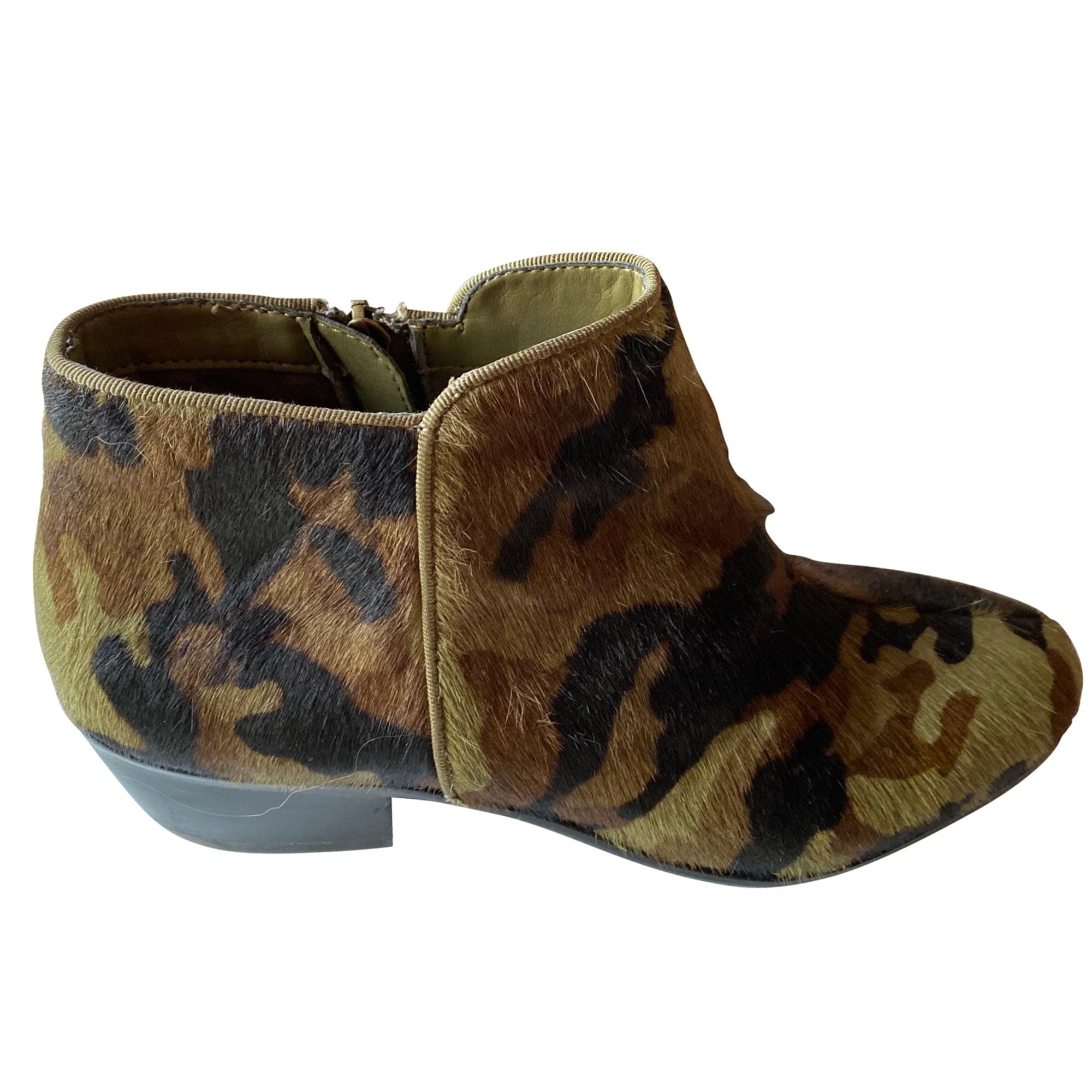 Santiags, bottines, low boots cowboy SAM EDELMAN Camouflage