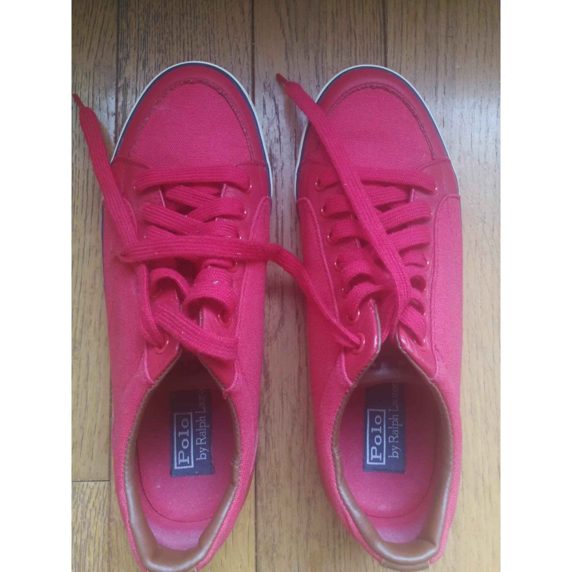 Chaussures à lacets RALPH LAUREN Rouge, bordeaux