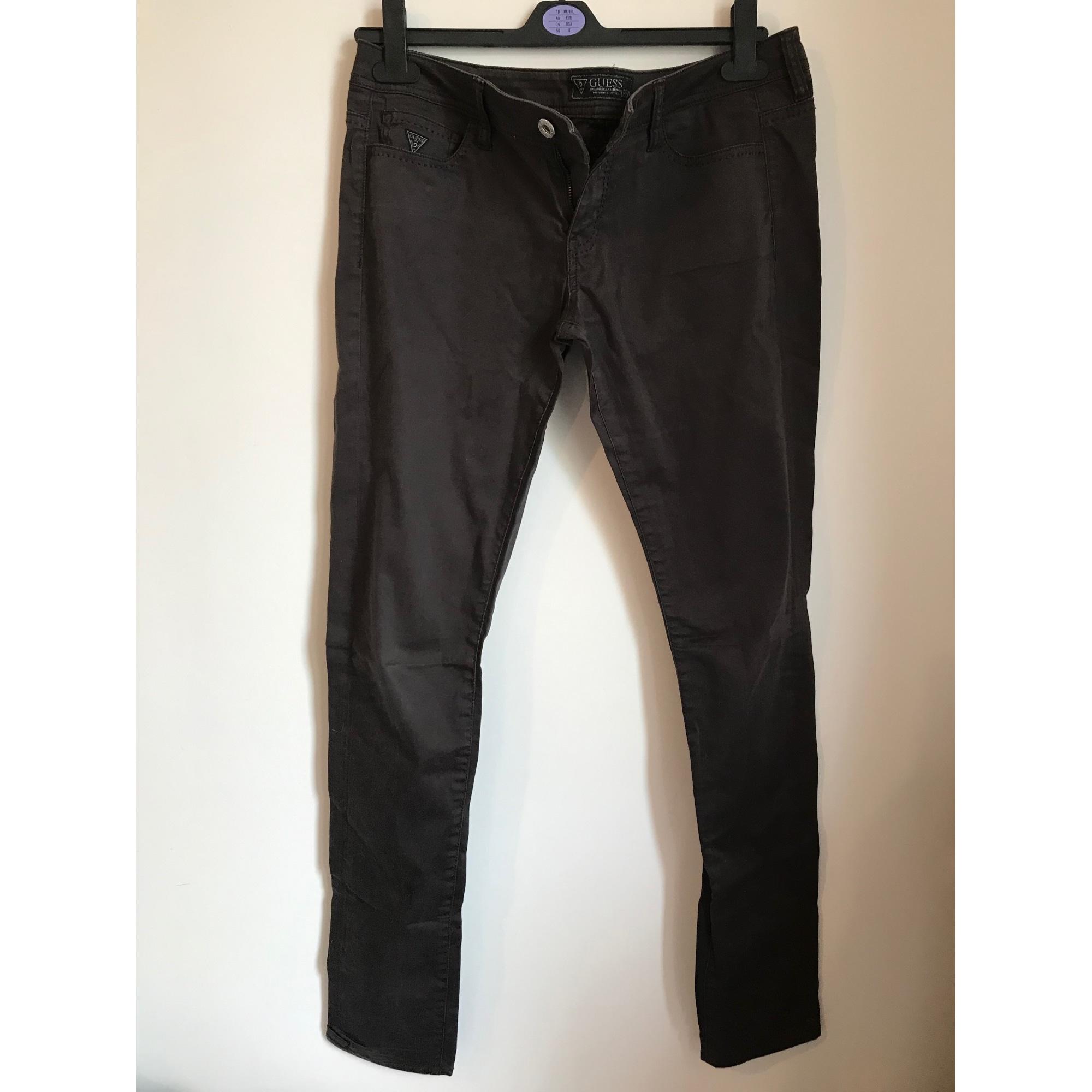 Pantalon droit GUESS Marron