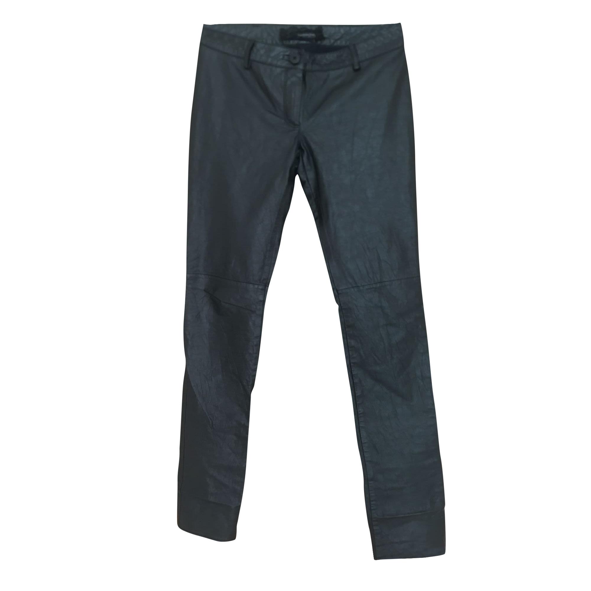 Pantalon slim, cigarette PATRIZIA PEPE Noir