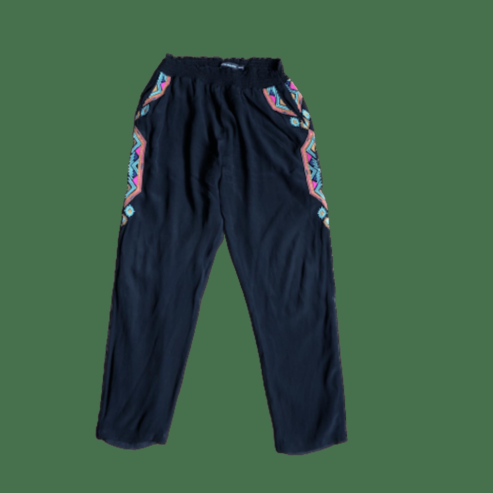 Pantalon carotte ANTIK BATIK Noir