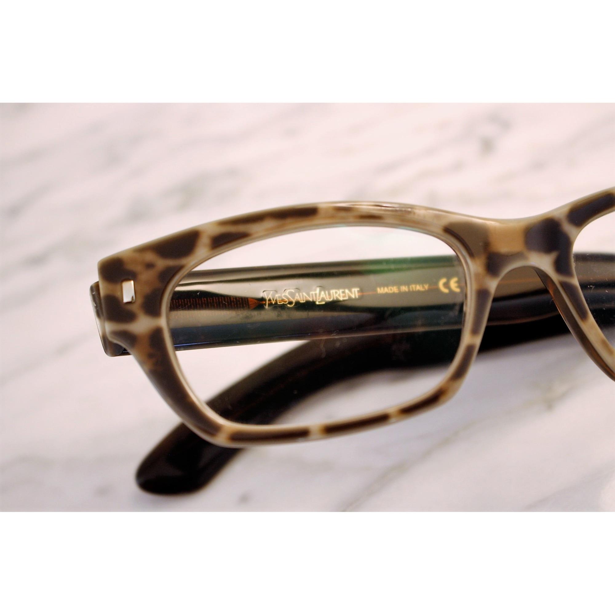 Monture de lunettes YVES SAINT LAURENT Imprimés animaliers