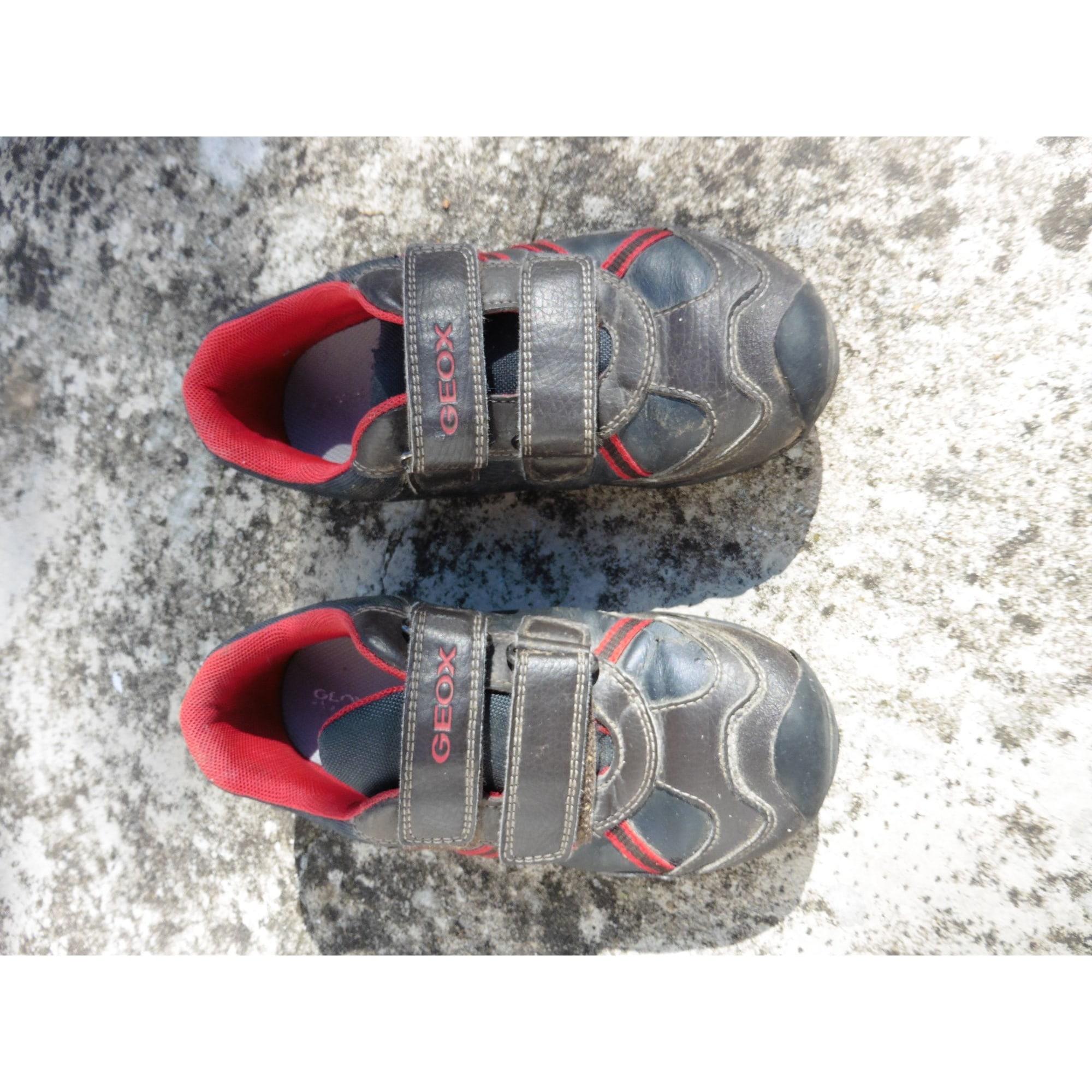 Chaussures à scratch GEOX Marron