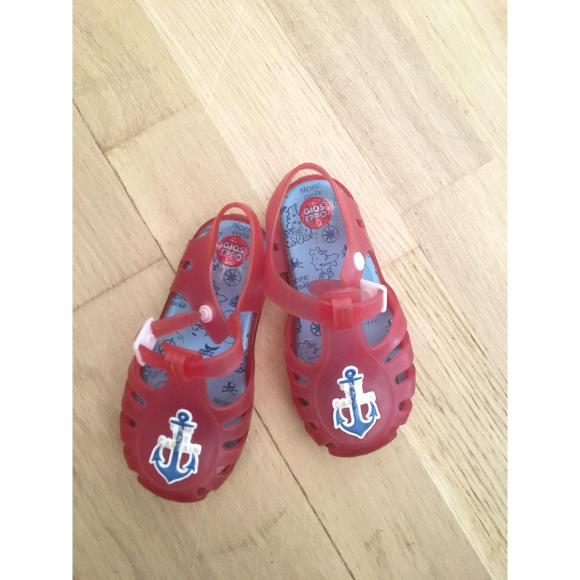 Sandales GIOSEPPO Rouge, bordeaux