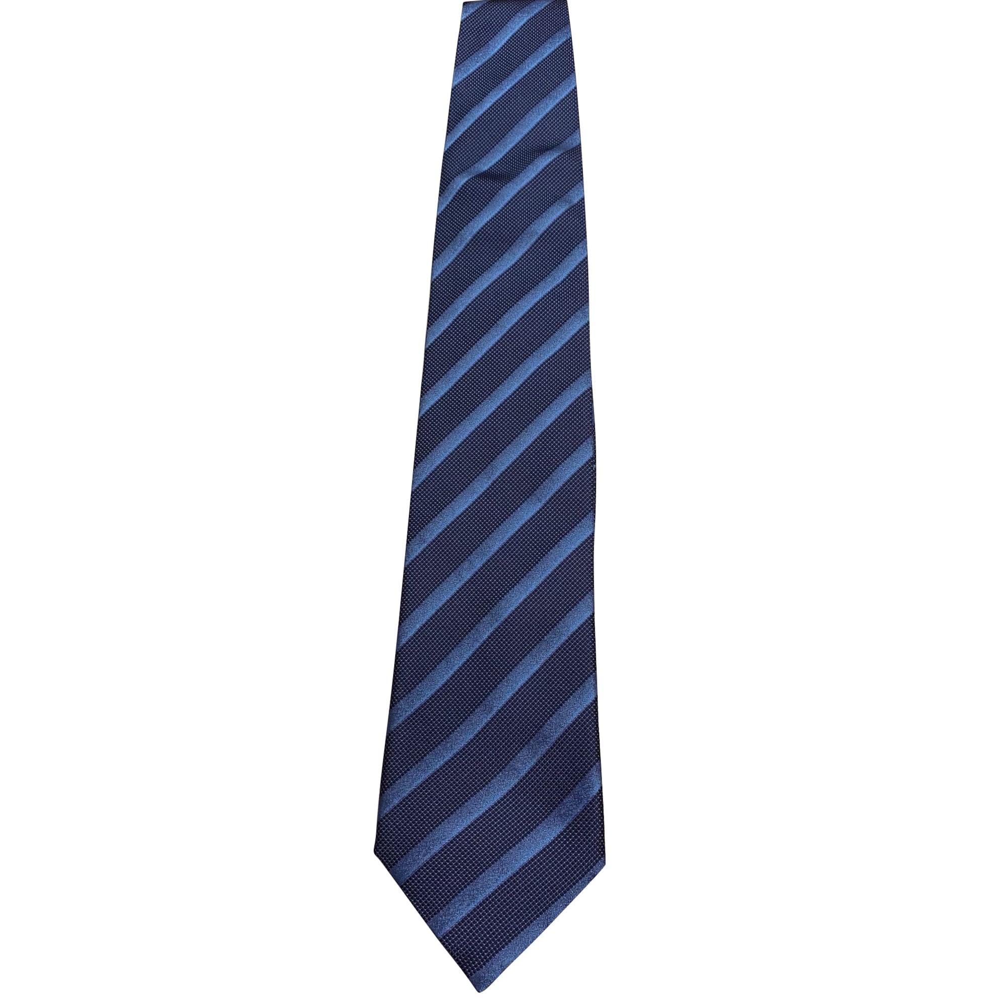 Cravate LANVIN Bleu, bleu marine, bleu turquoise