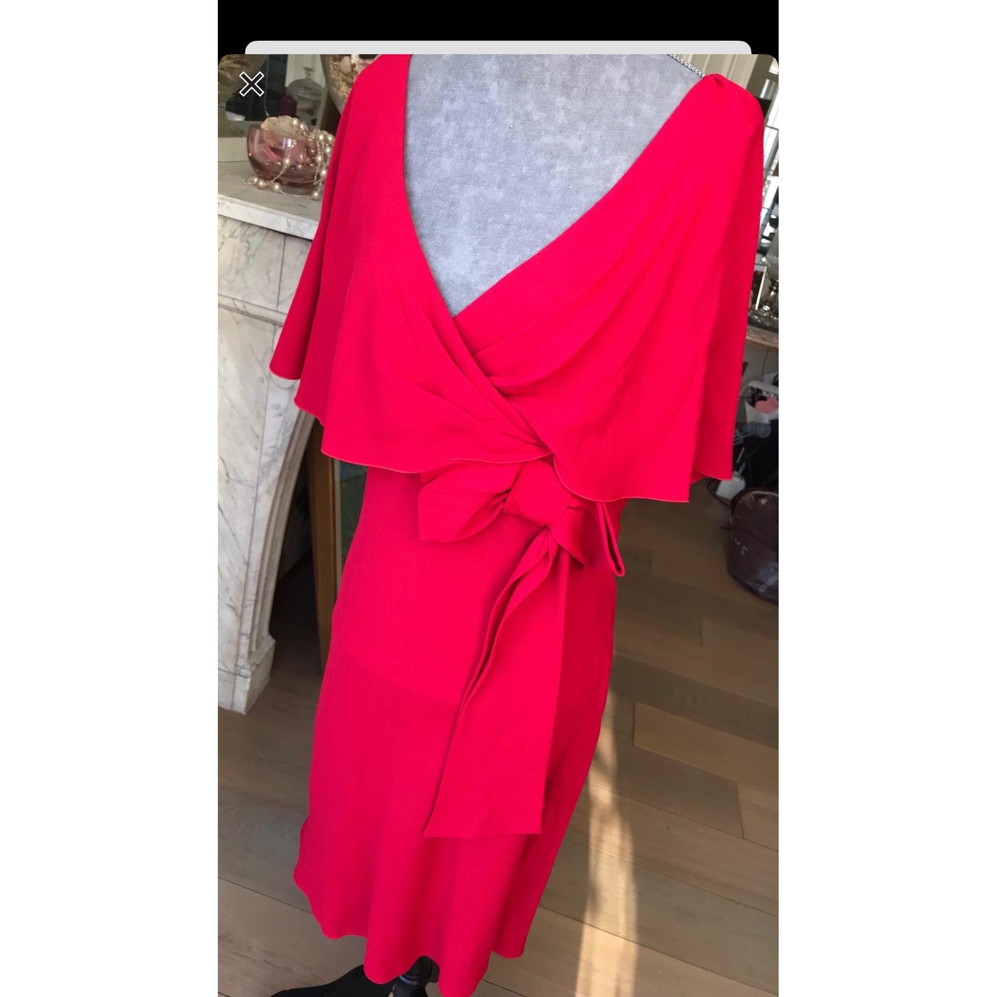 Robe mi-longue VALENTINO Rouge, bordeaux