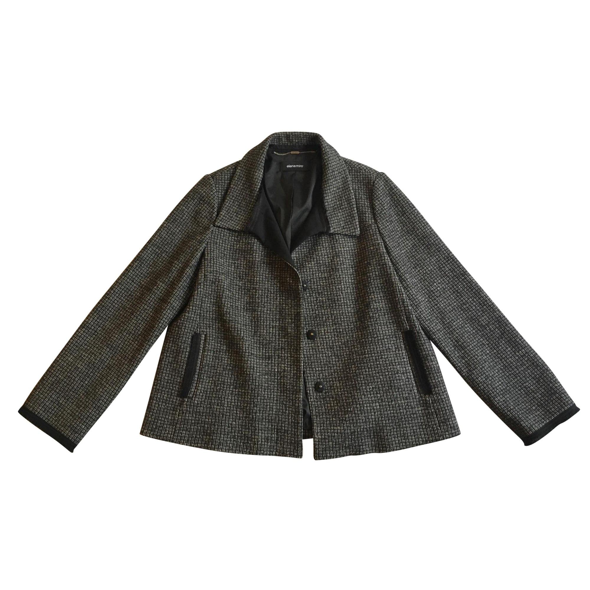 Manteau ELENA MIRO Noir et blanc