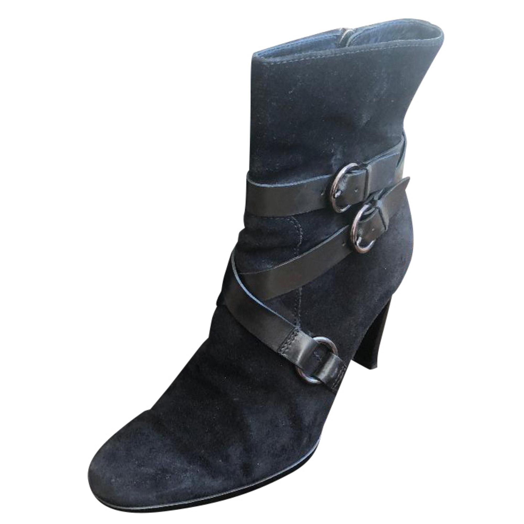 Bottines & low boots à talons TOD'S Noir