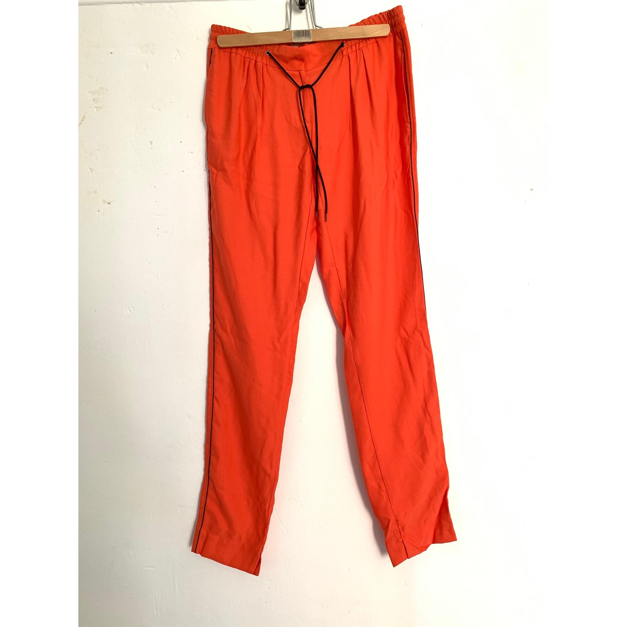 Pantalon droit CHATTAWAK Orange