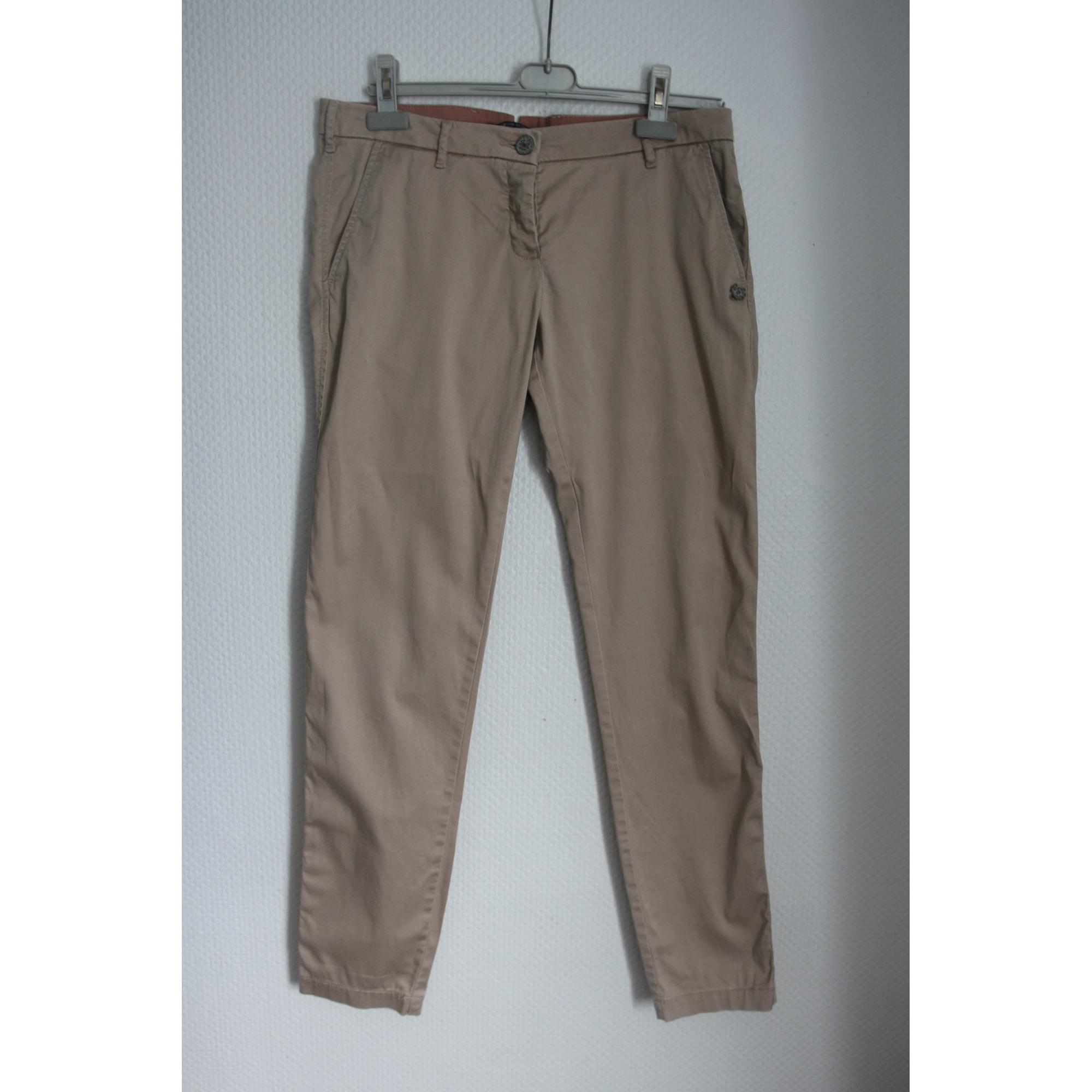 Pantalon droit MAISON SCOTCH Beige, camel